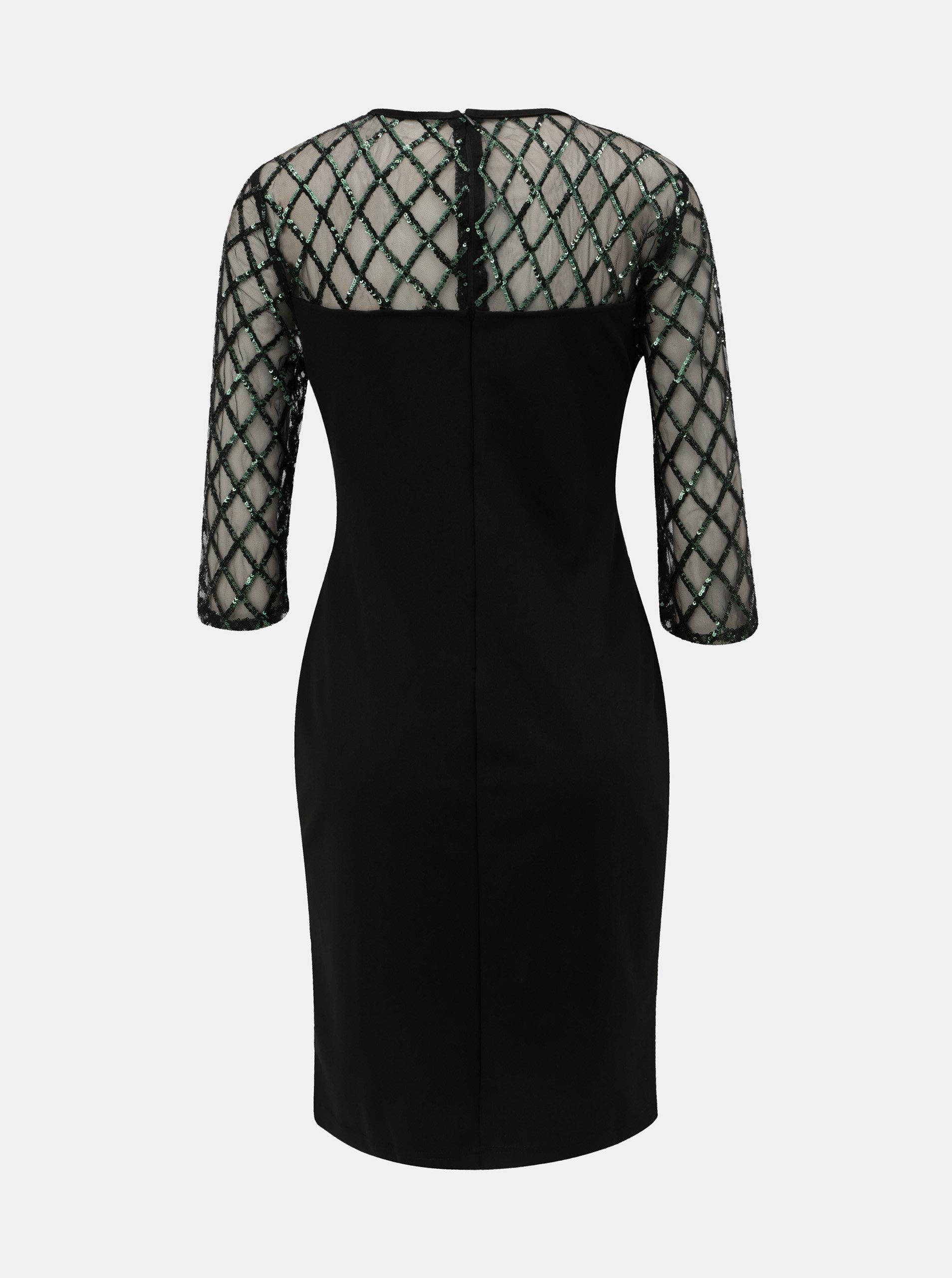 354efecea1f1 Čierne puzdrové šaty s flitrami Dorothy Perkins Petite ...
