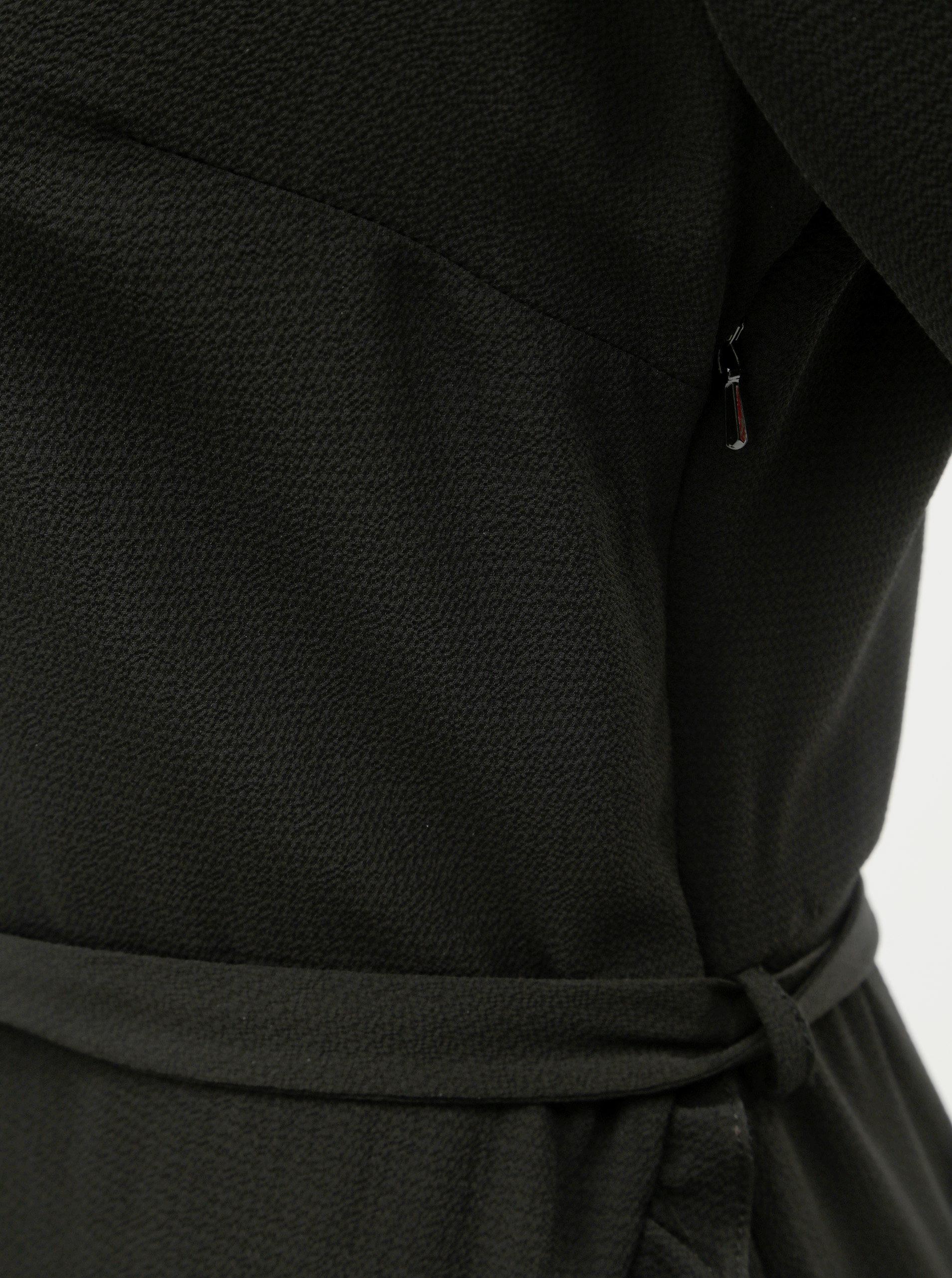 c23b438ffe5 Čierne šaty s volánom Dorothy Perkins ...