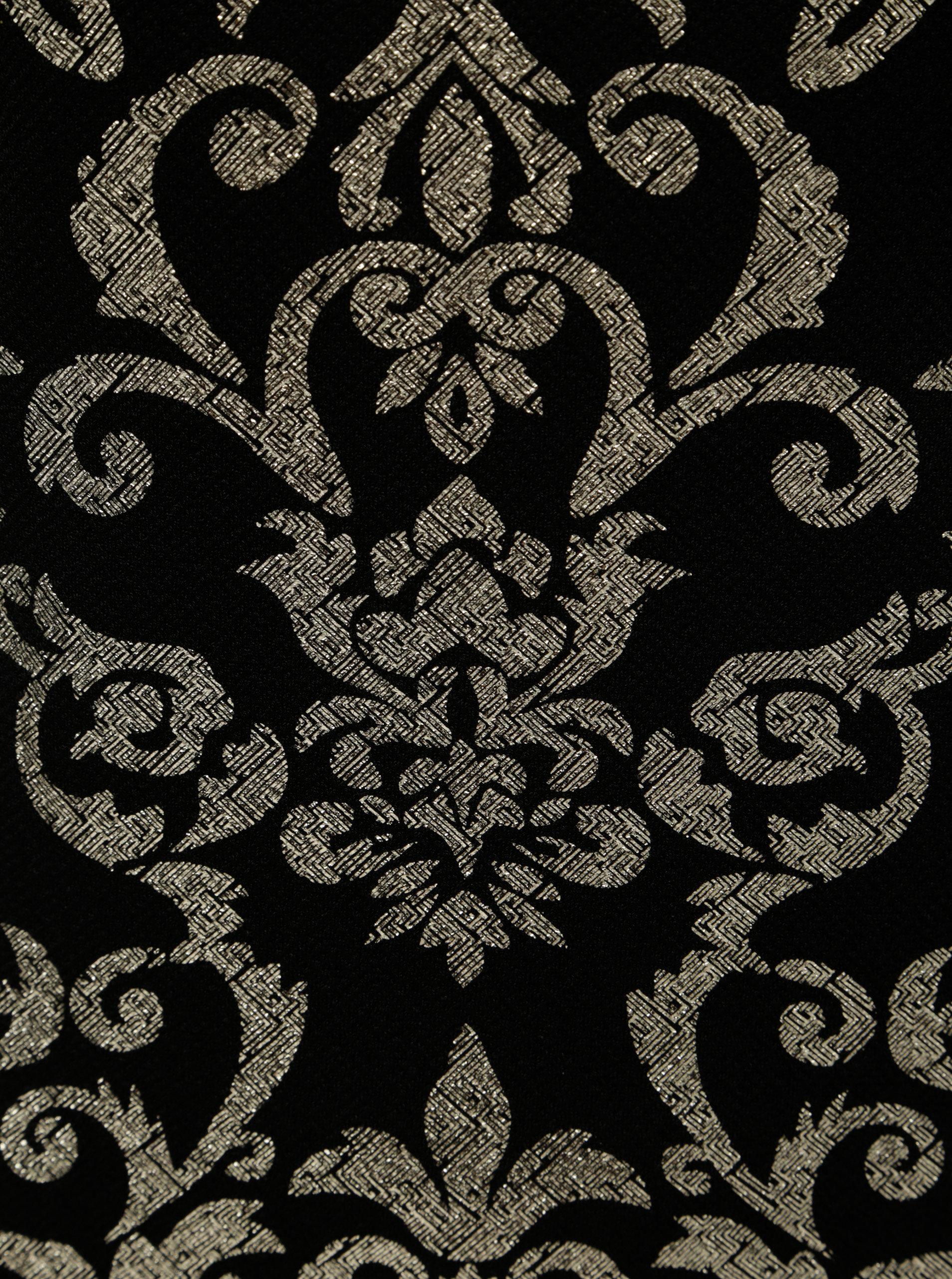 5b07191f534f Puzdrové vzorované šaty v zlato–čiernej farbe Dorothy Perkins ...