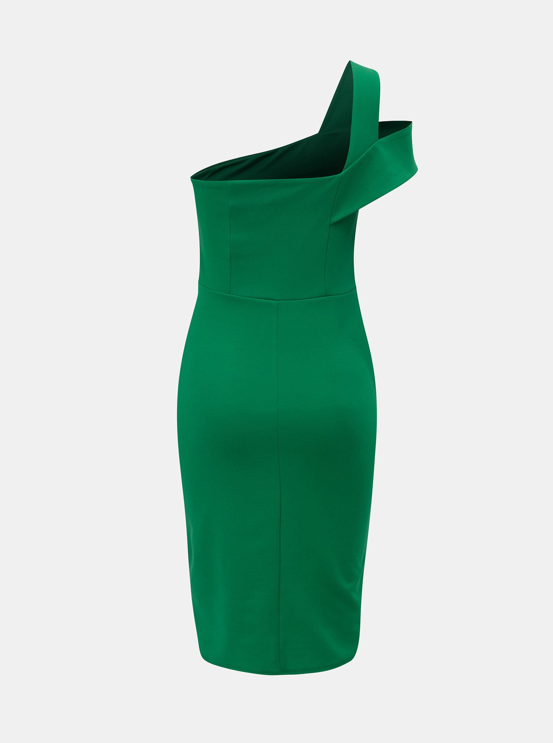 af04d69b07ef Zelené šaty na jedno rameno Dorothy Perkins ...