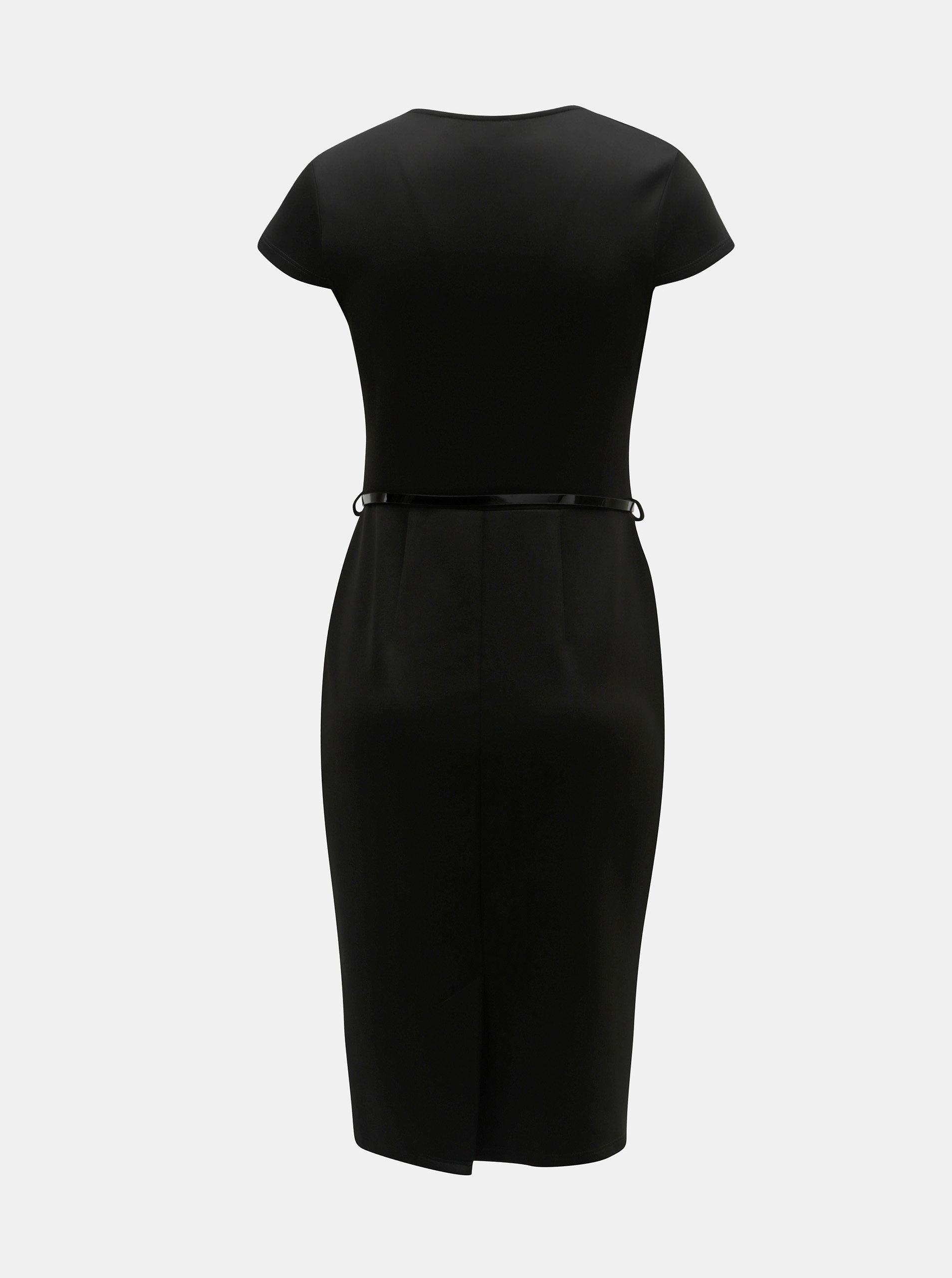 ec25de8911 Čierne puzdrové šaty s opaskom Dorothy Perkins ...