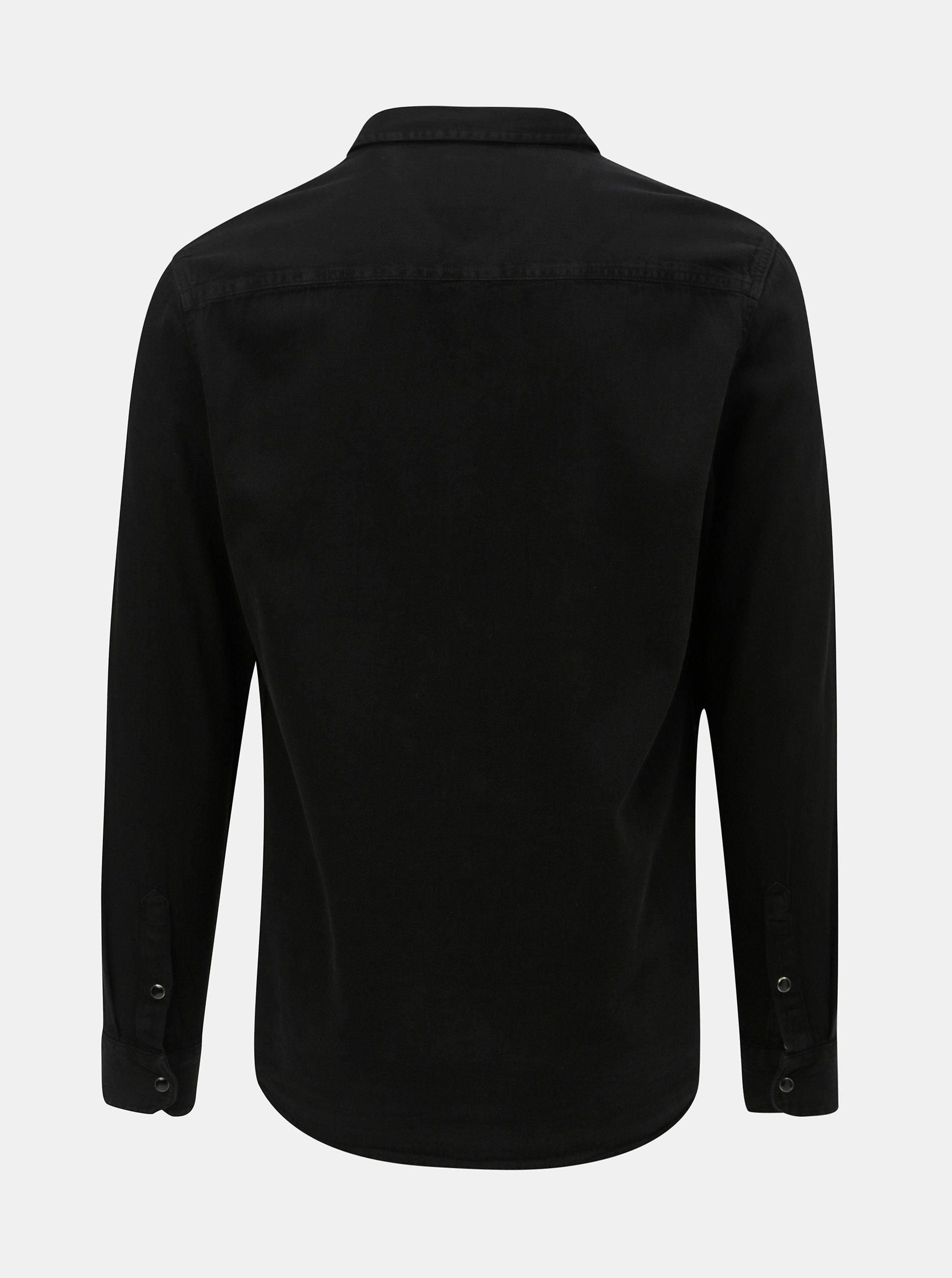 cd400371472c Čierna rifľová košeľa Burton Menswear London ...