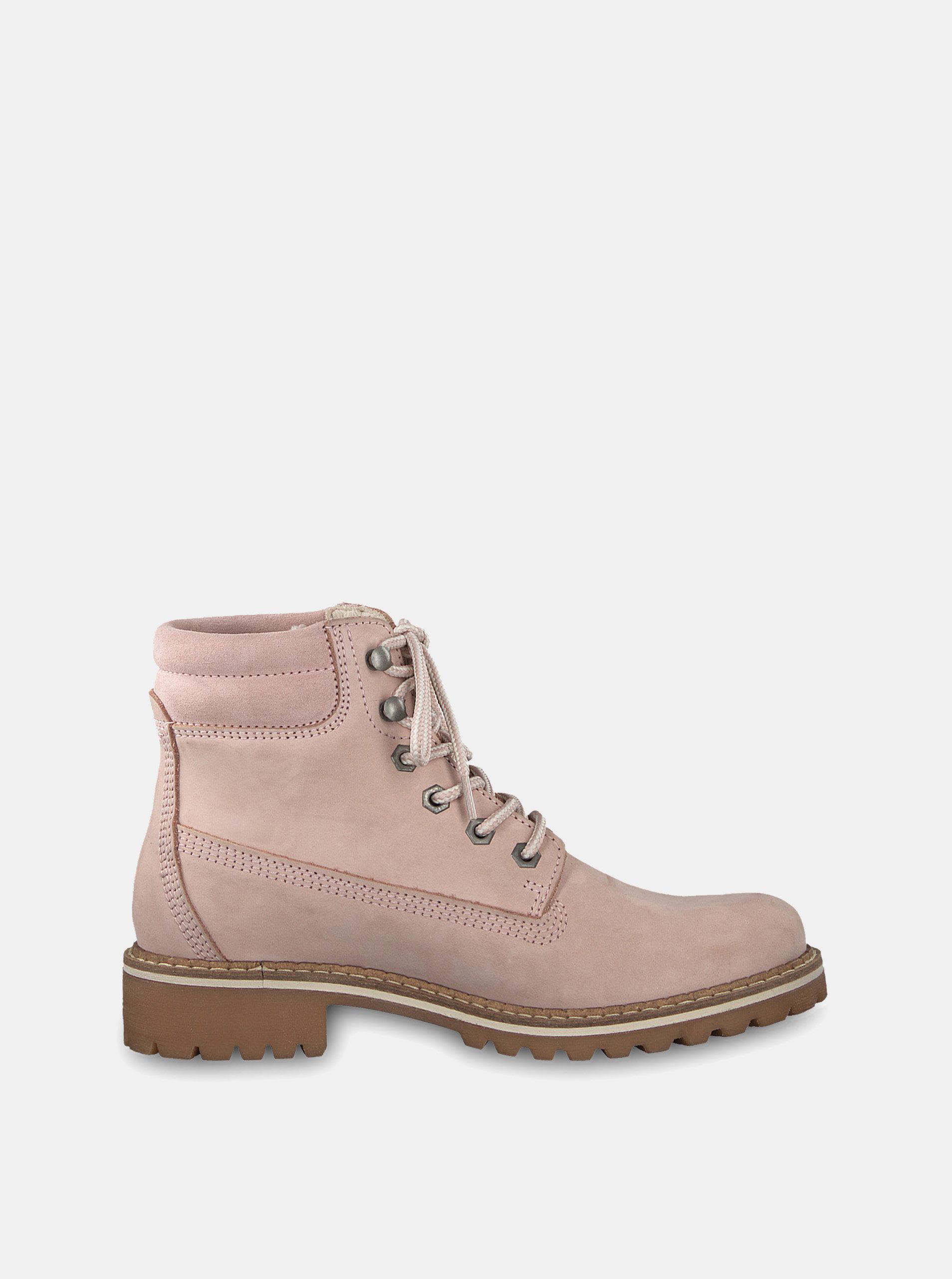 9af3c175af6f Svetloružové semišové členkové topánky Tamaris ...