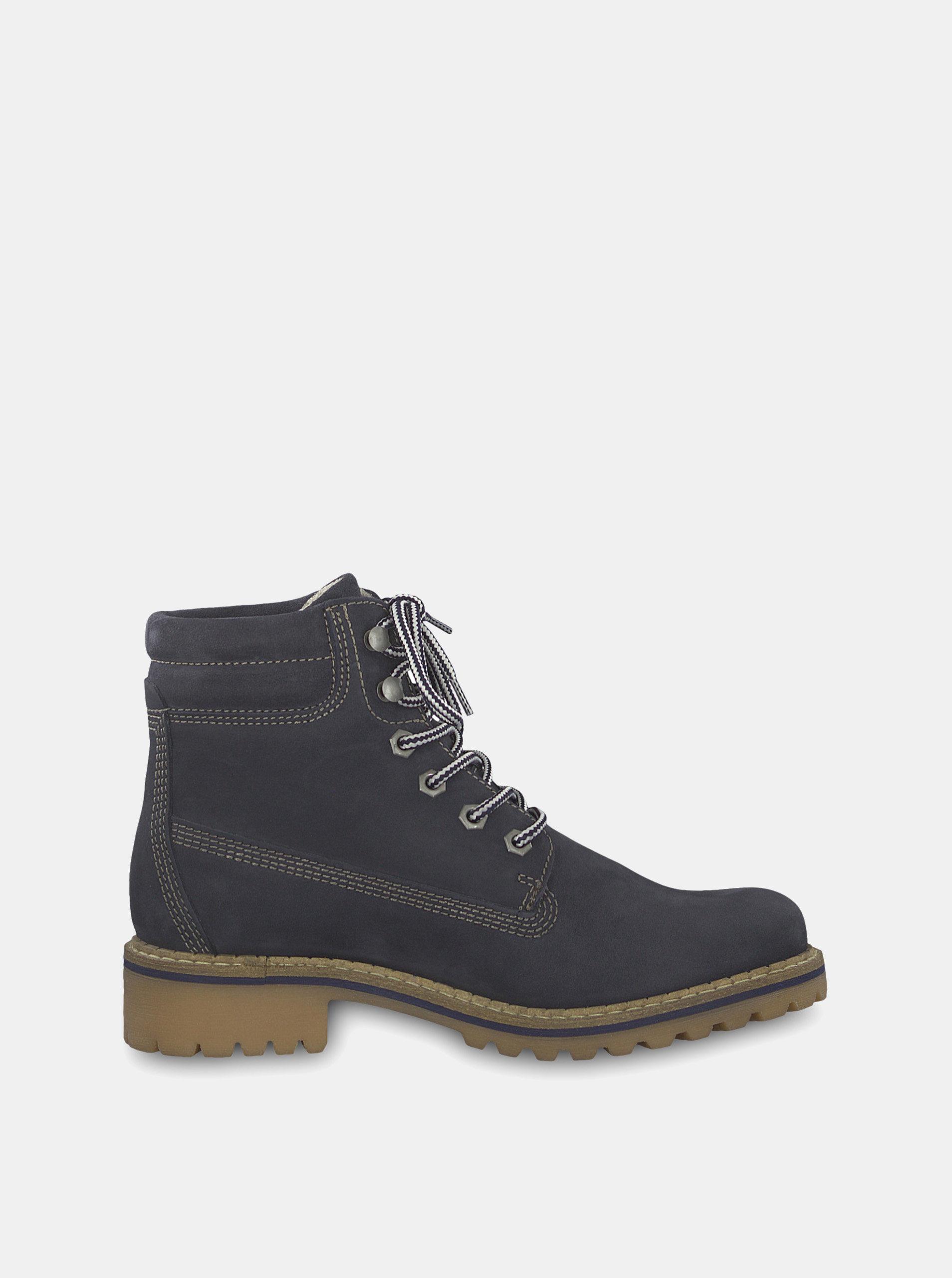 bcb1a936d1291 Tmavosivé semišové členkové topánky Tamaris | ZOOT.sk