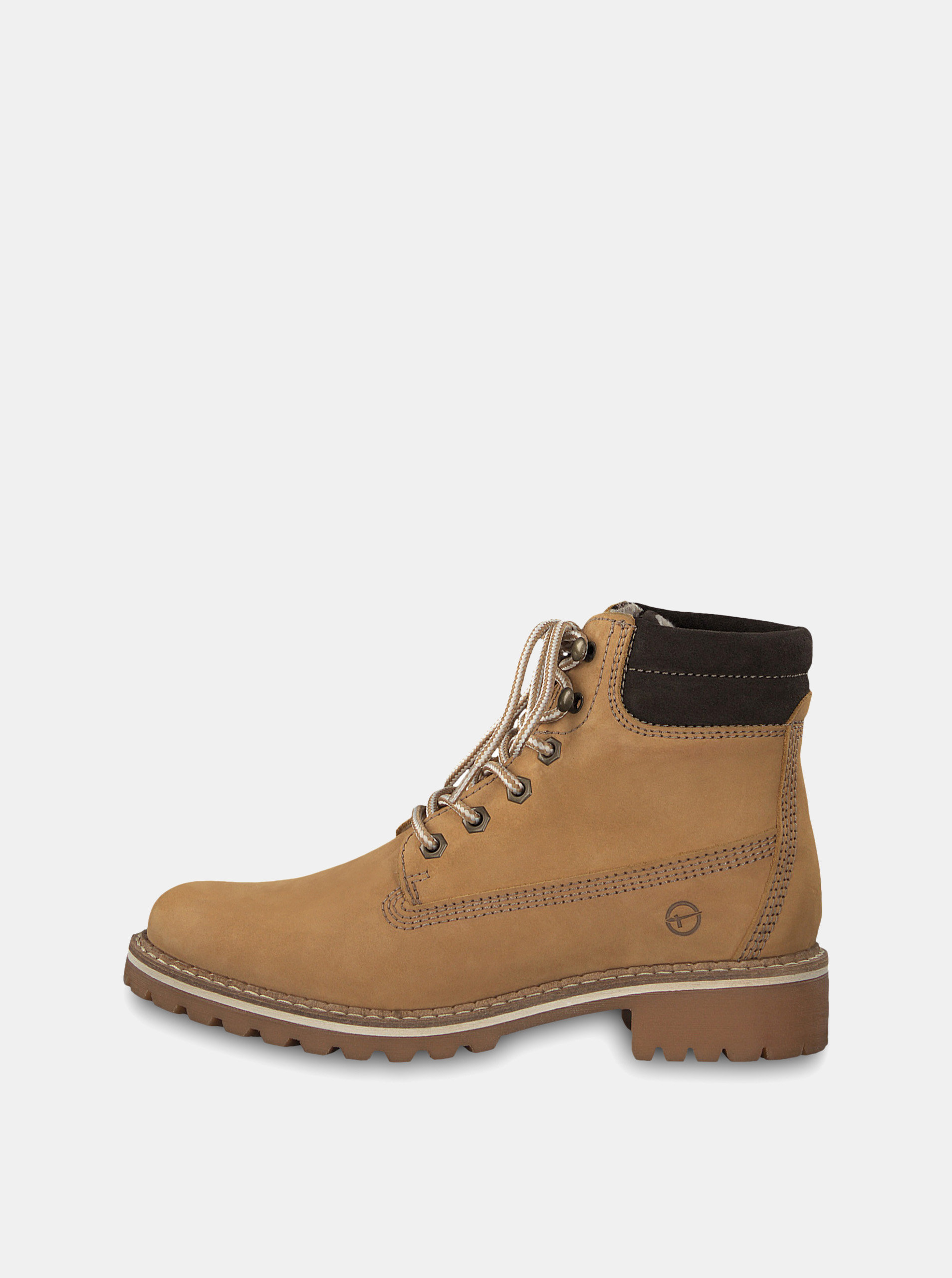 Hnědé kotníkové boty Tamaris ... 3df642bdaf