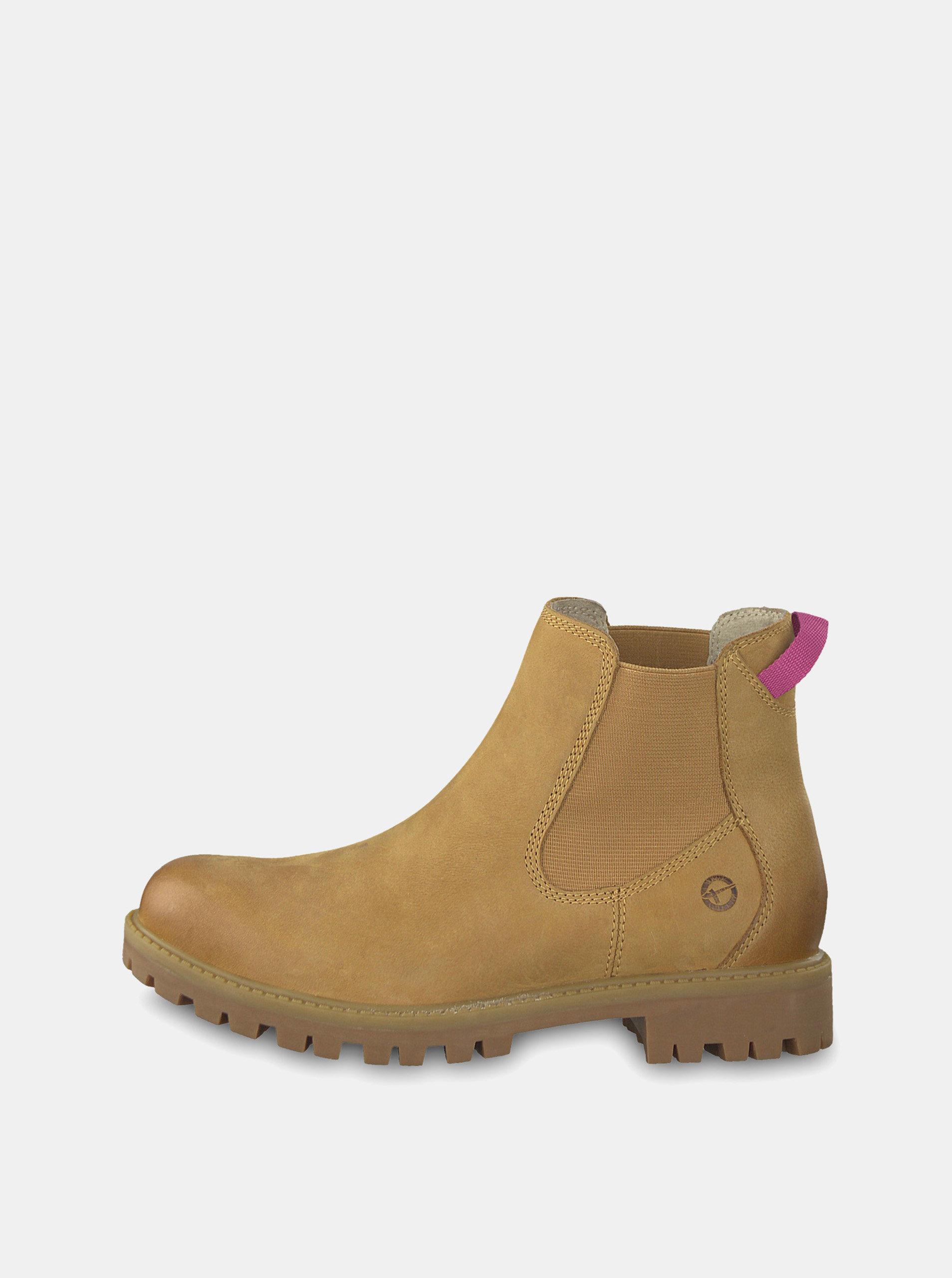 2180033bcc07 Svetlohnedé kožené chelsea topánky Tamaris ...