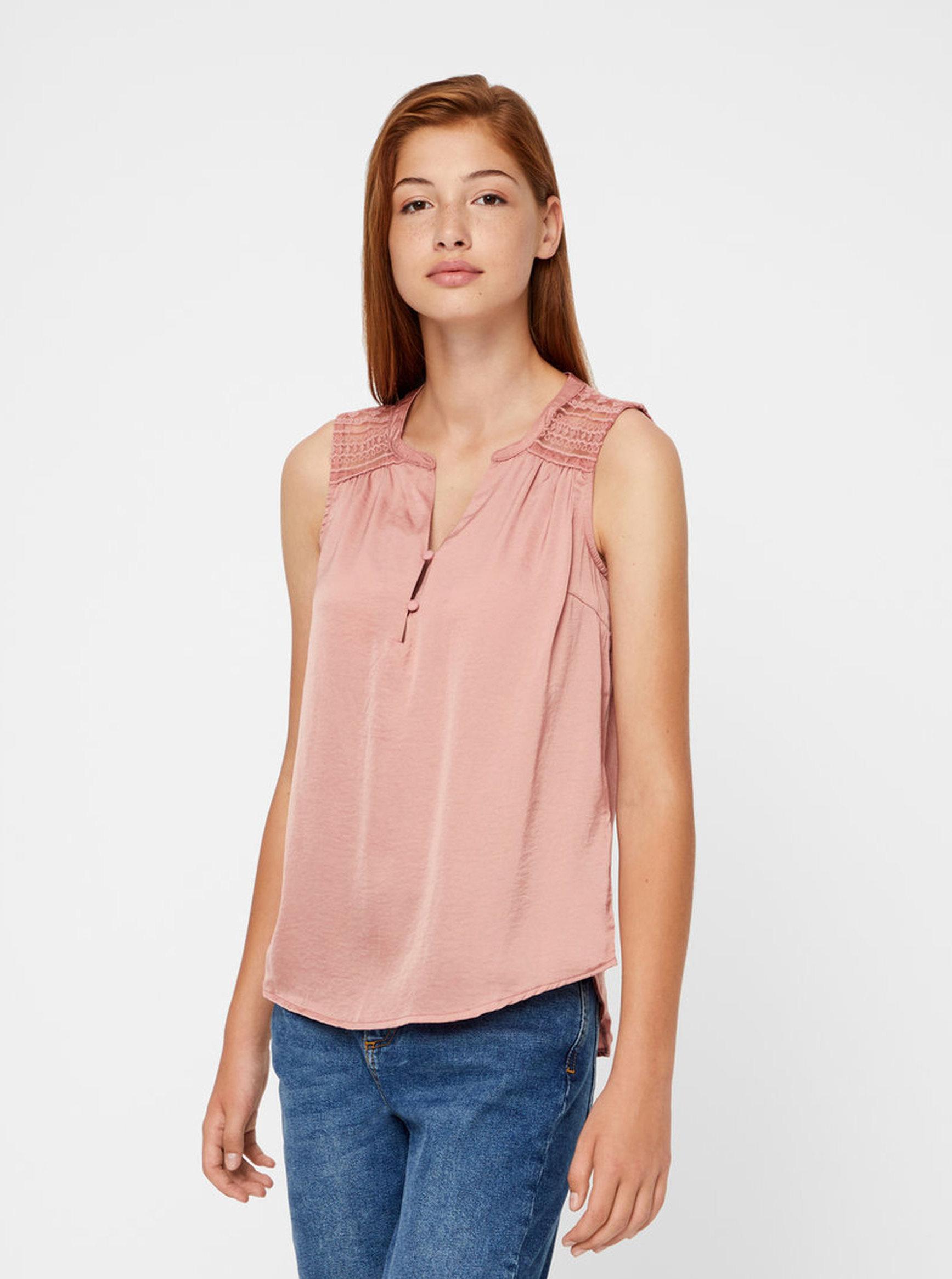 Bluza roz VERO MODA Marella   ZOOT.ro bbcd65b86e