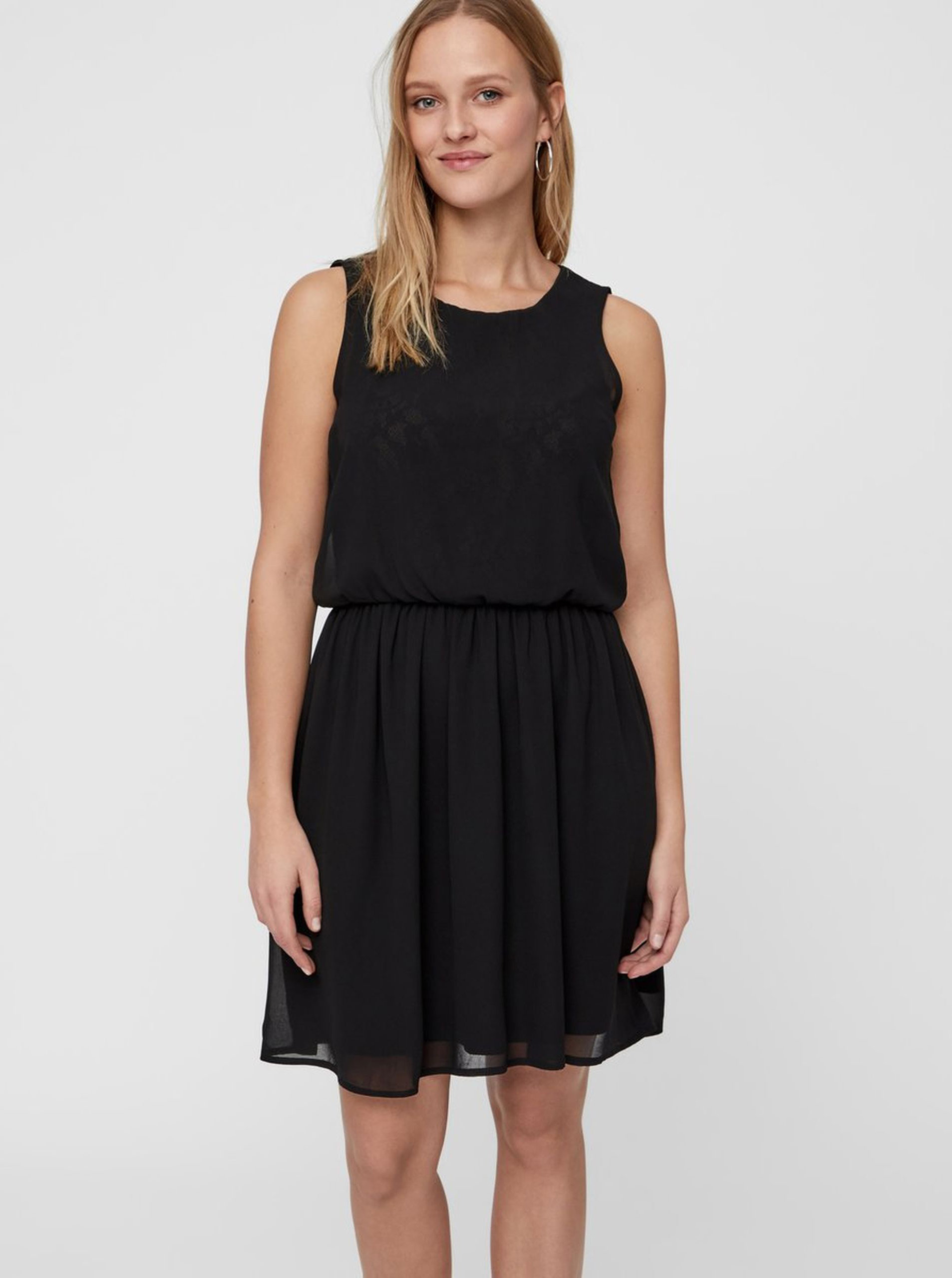 0dfc69444a0 Černé šaty s gumou v pase VERO MODA ...