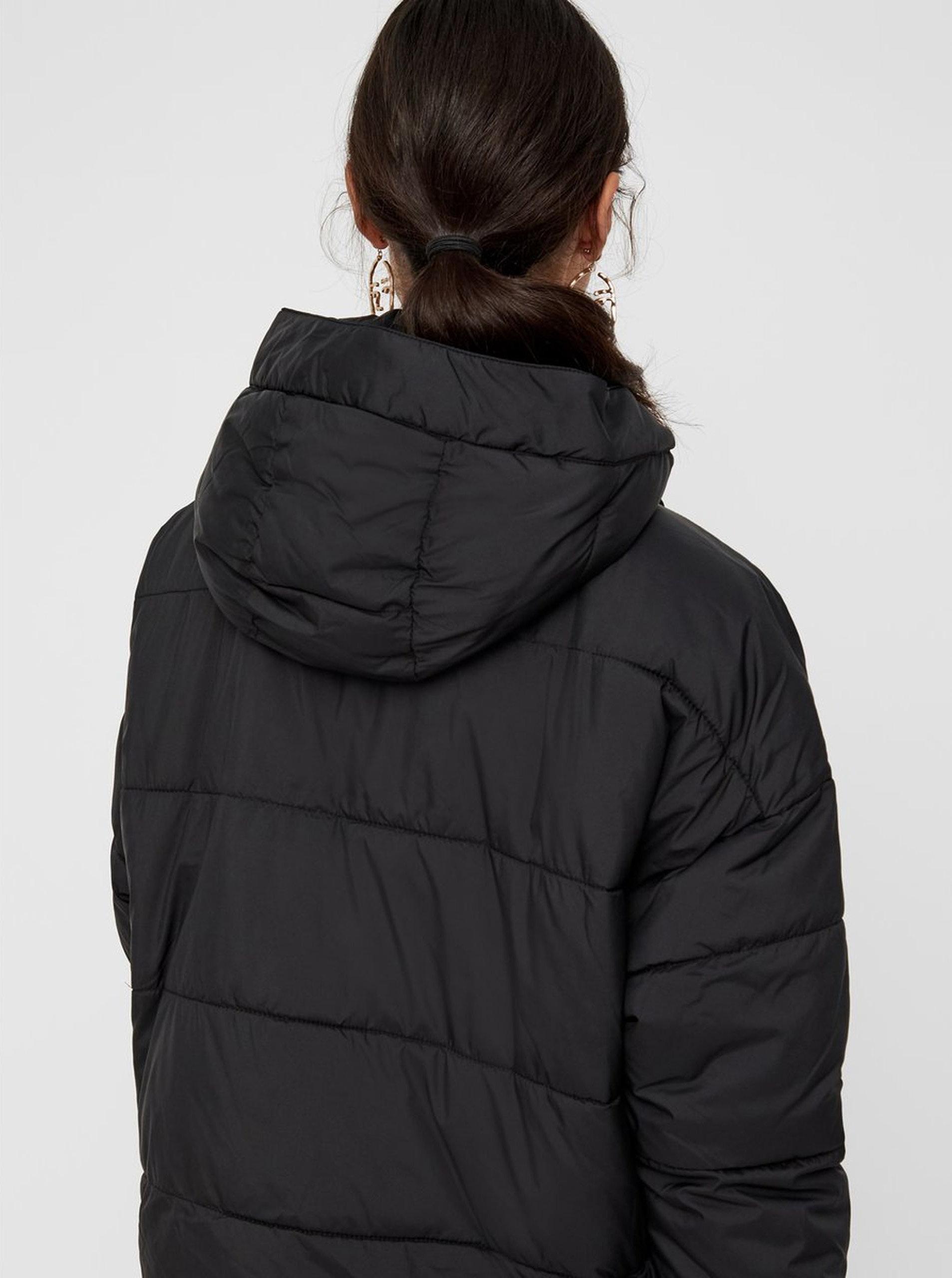 ce1a9f57745a Čierna zimná bunda s odopínateľným šálom VERO MODA ...