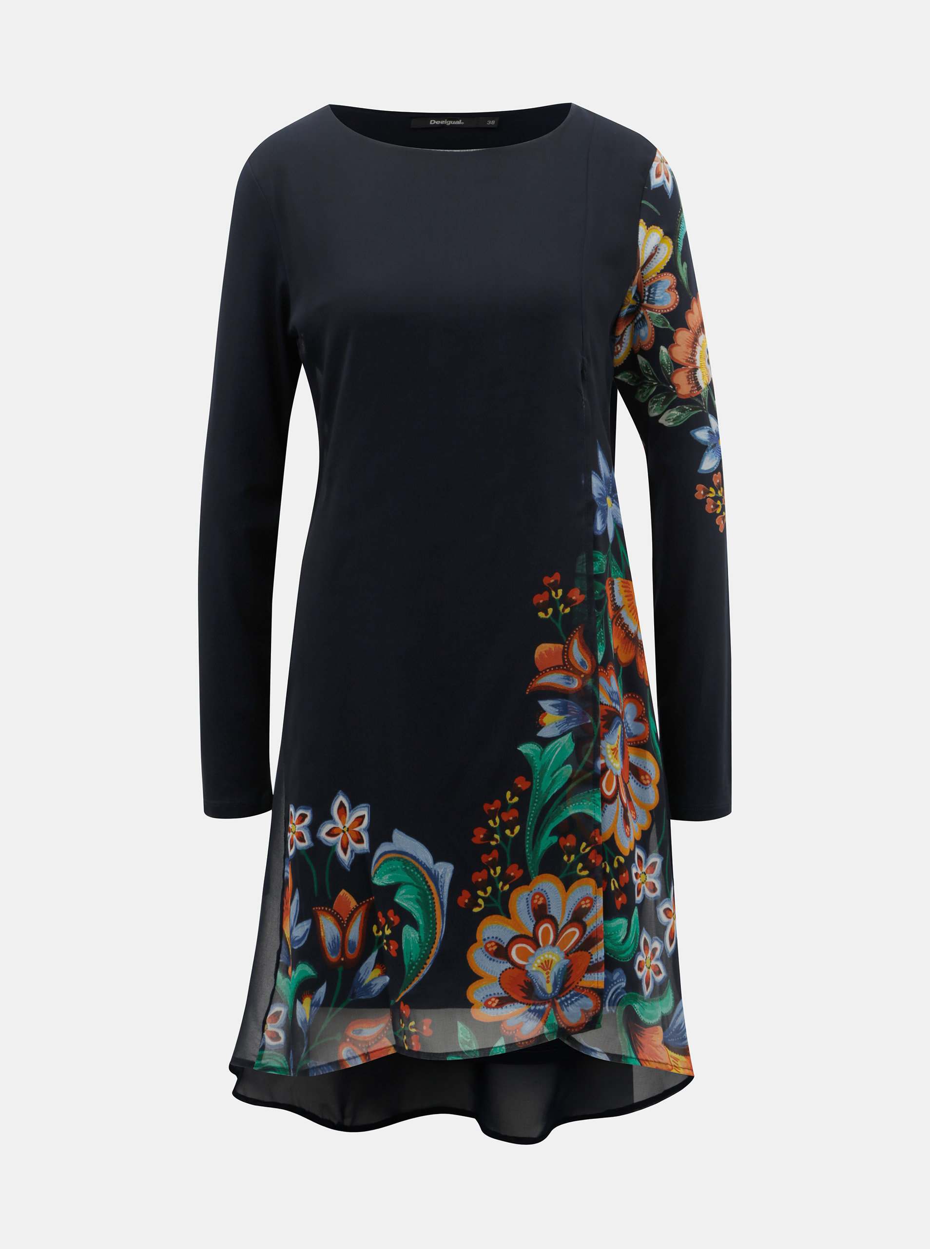 88796d36a359 Tmavě modré šaty s motivem květin Desigual Utha ...