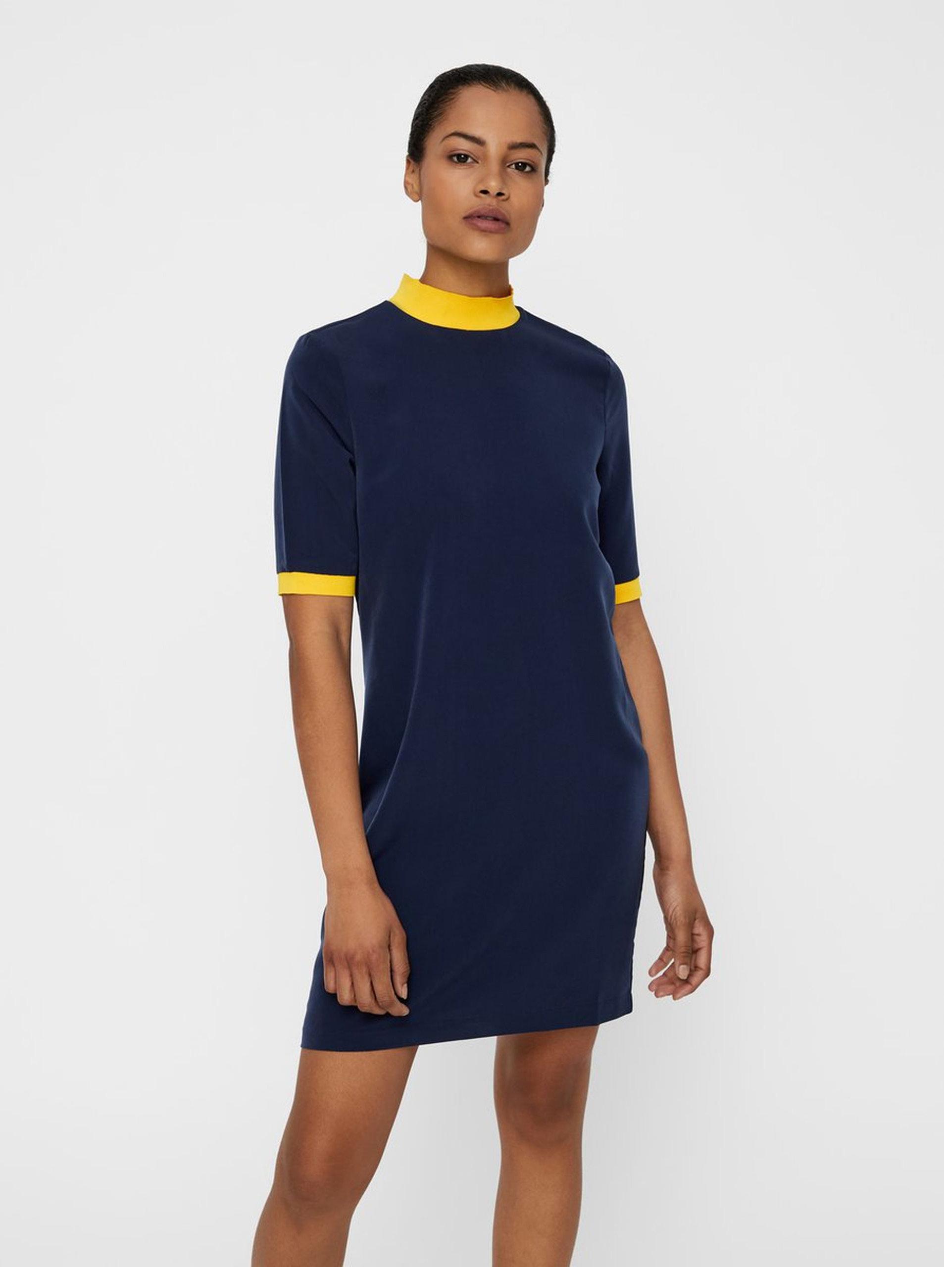 be2e153d5c0 Tmavě modré šaty se stojáčkem Noisy May ...
