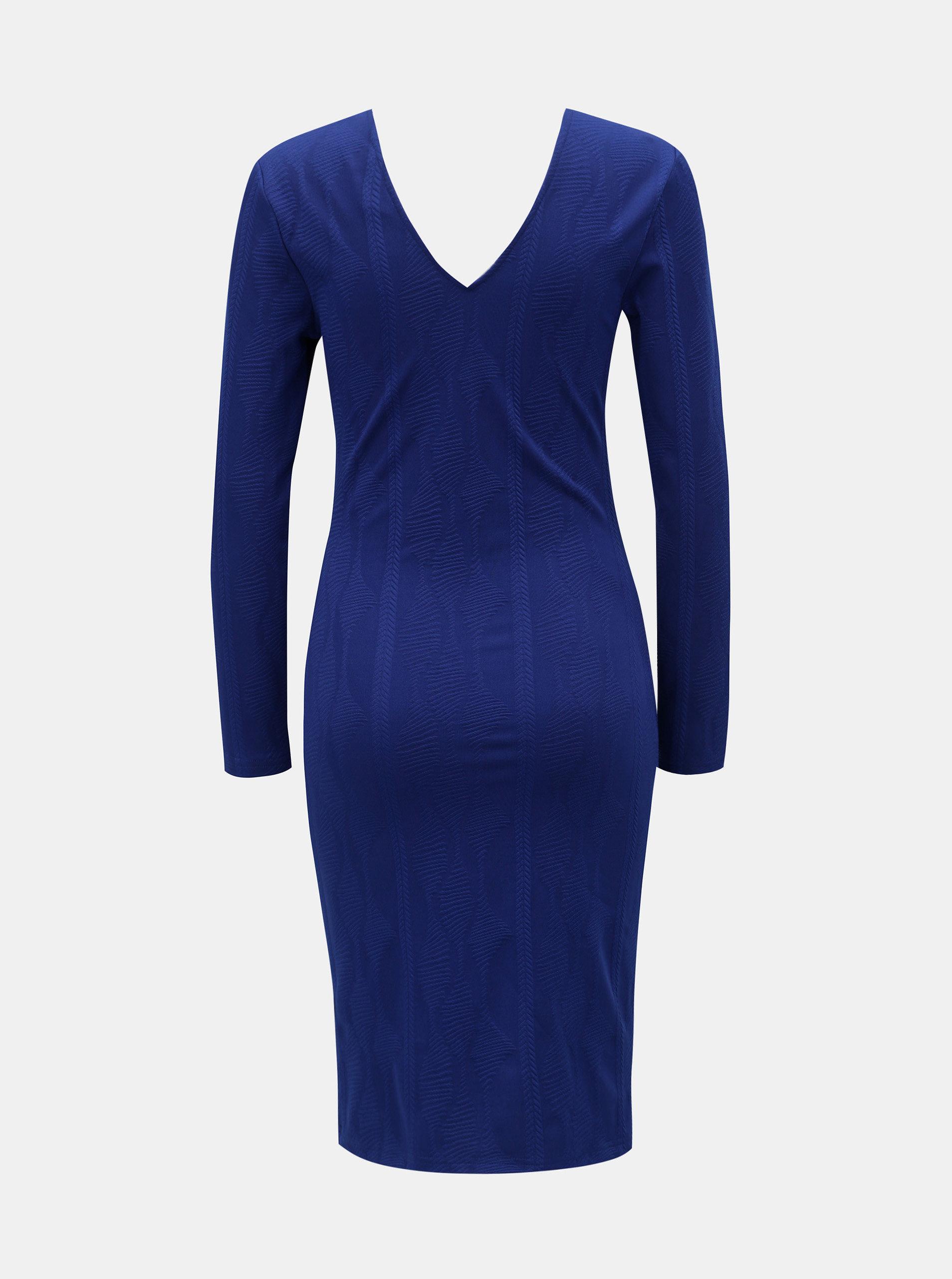 e06269990490 Modré puzdrové šaty s véčkovým výstrihom Dorothy Perkins ...