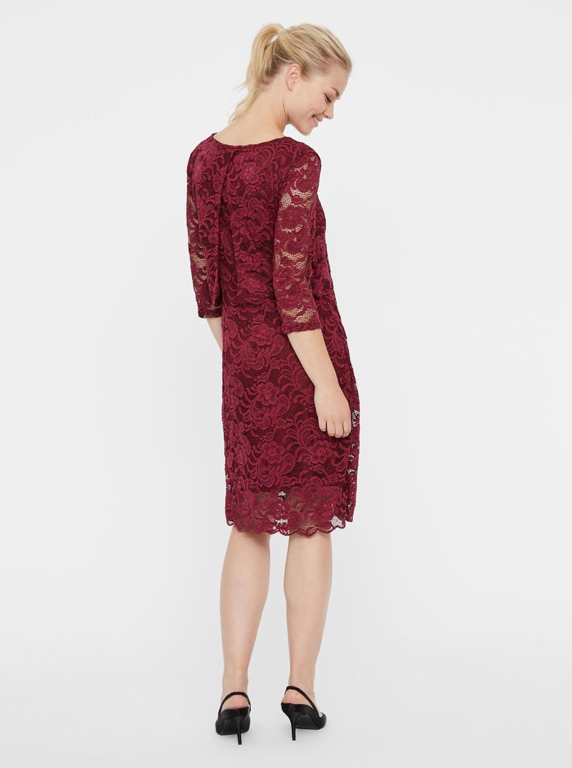 95ebdb37a5cb Ružové tehotenské čipkované šaty vhodné na dojčenie Mama.licious Mivane ...