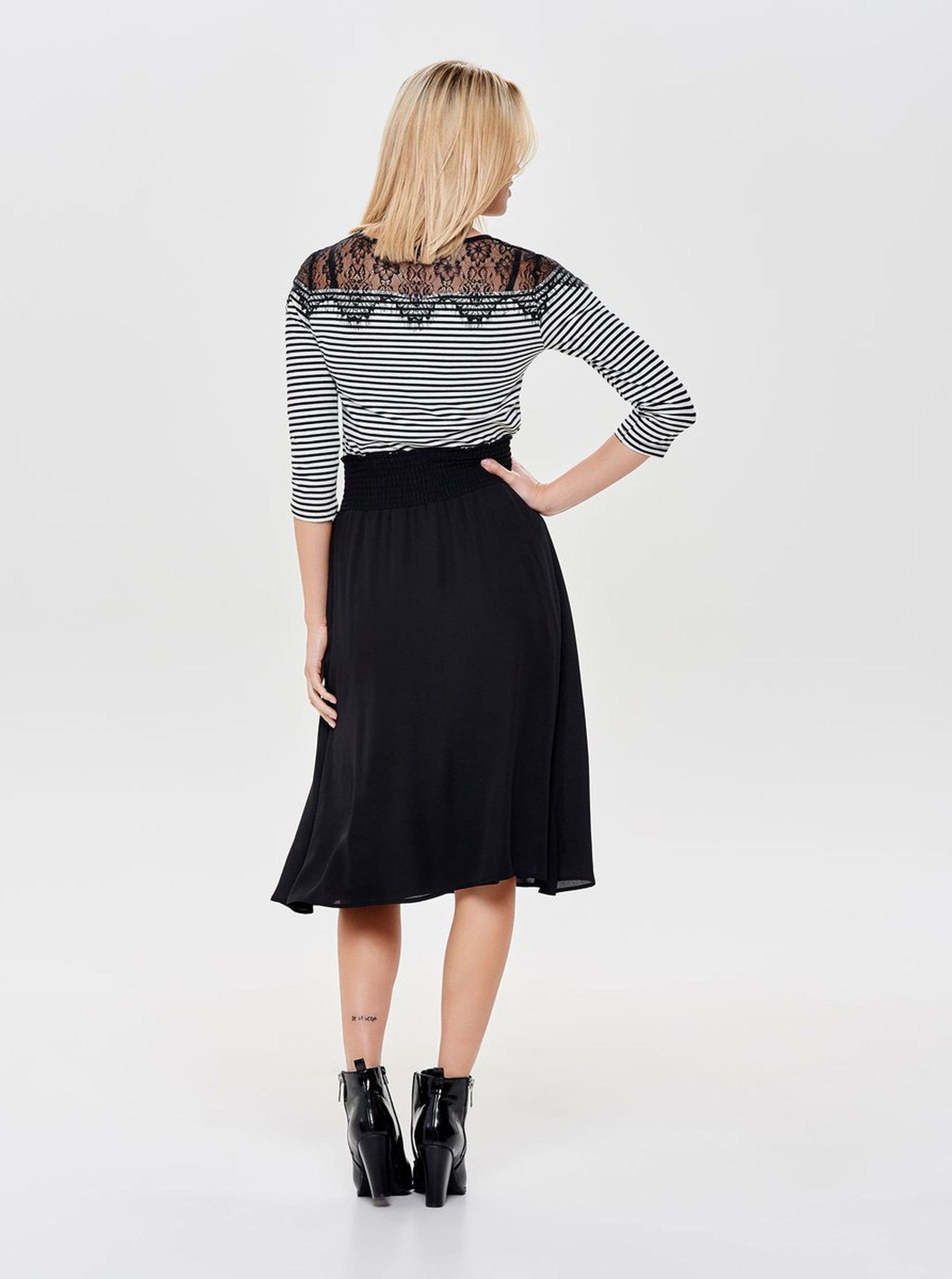 2ece0c606841 Čierna áčková sukňa ONLY Liva ...