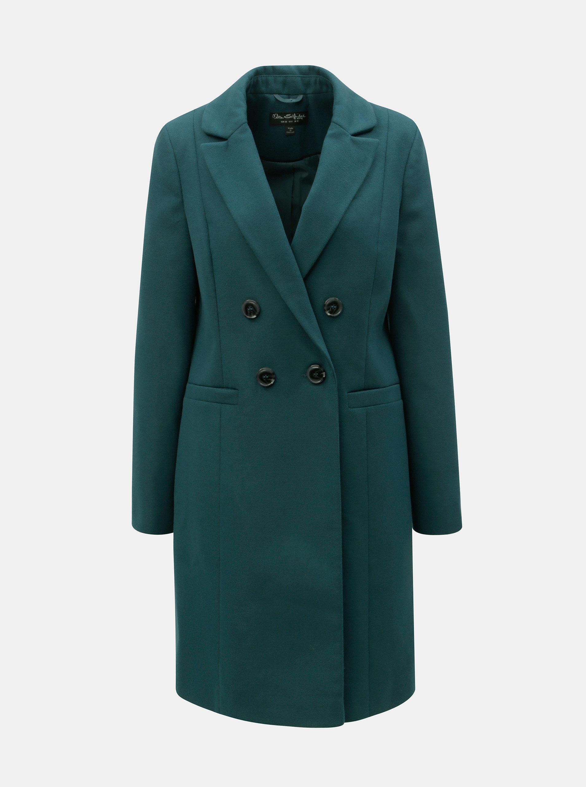 c879539dc5f5 Petrolejový kabát Miss Selfridge ...