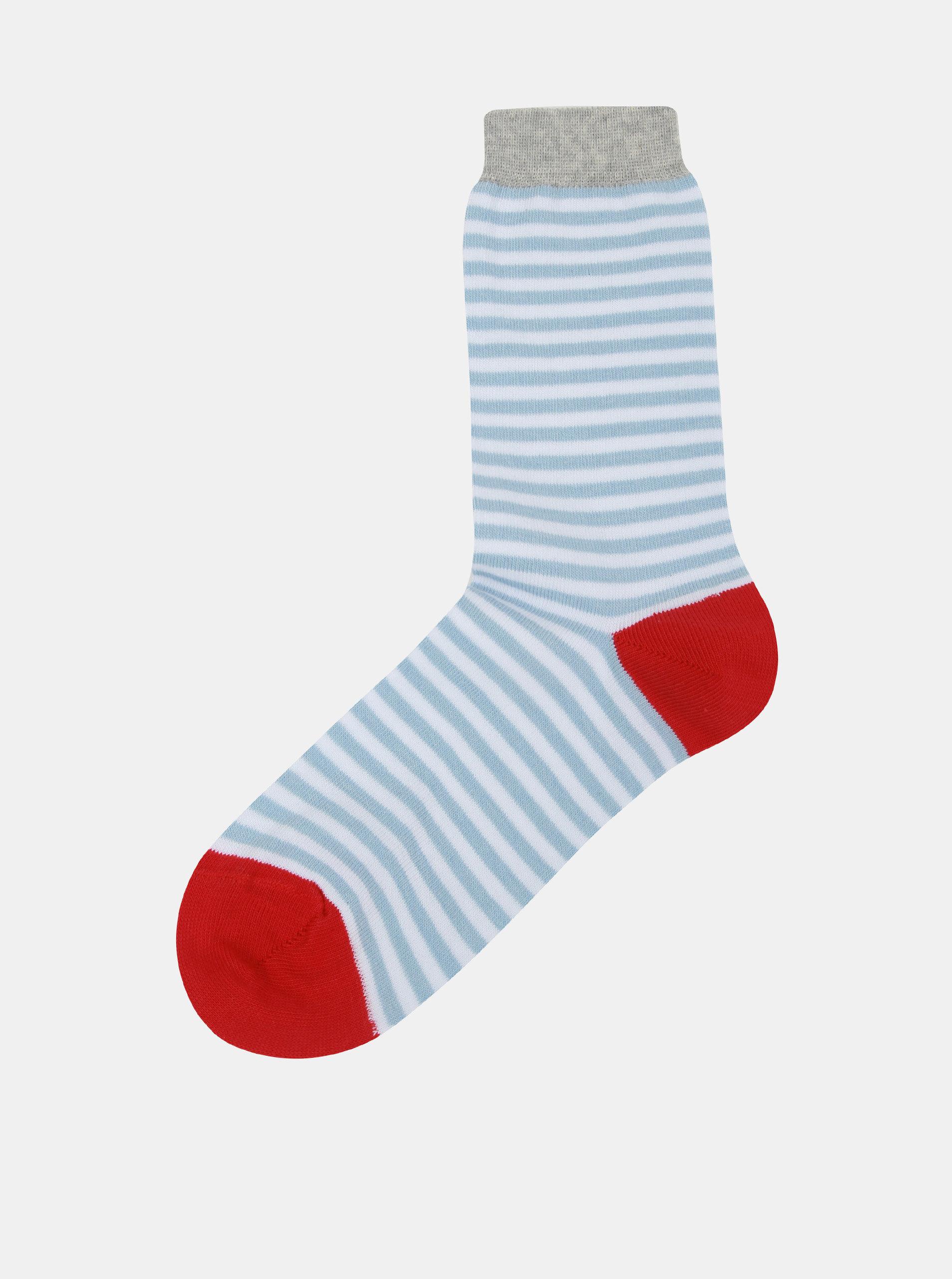 Modro-bílé dámské pruhované ponožky ZOOT ... 123ecea7de