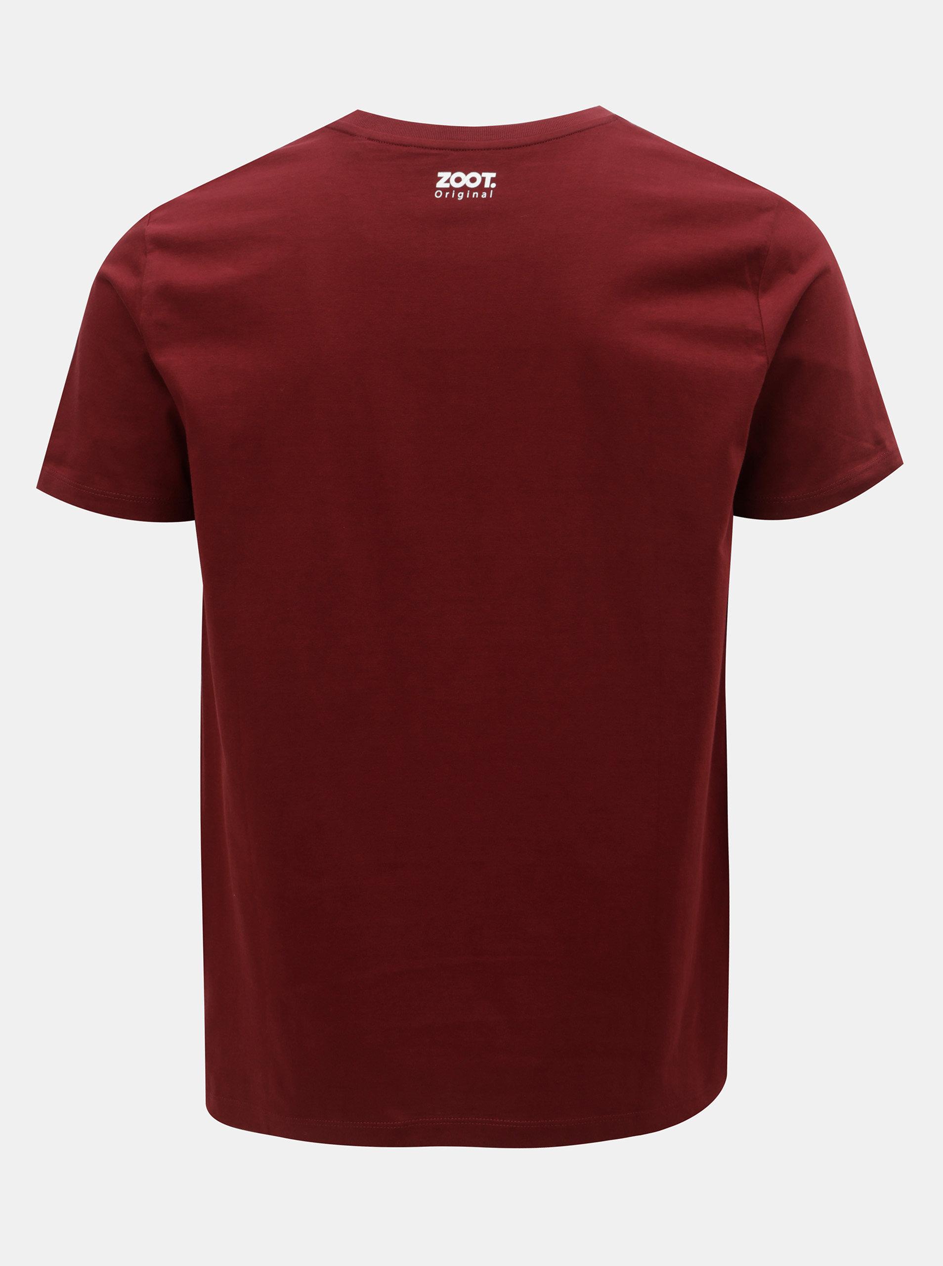 94fcee06515 Vínové pánské tričko ZOOT Originál Nejsu pražák ...
