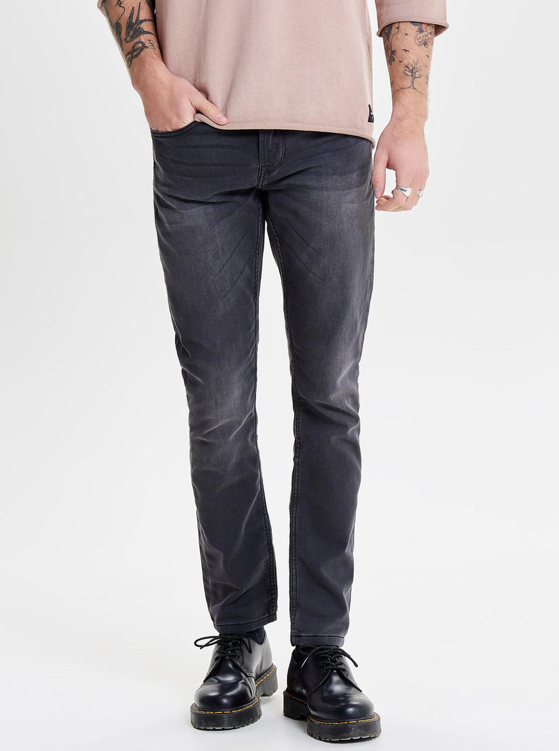 Tmavě šedé slim fit džíny ONLY   SONS Loom ... d9c86555d5