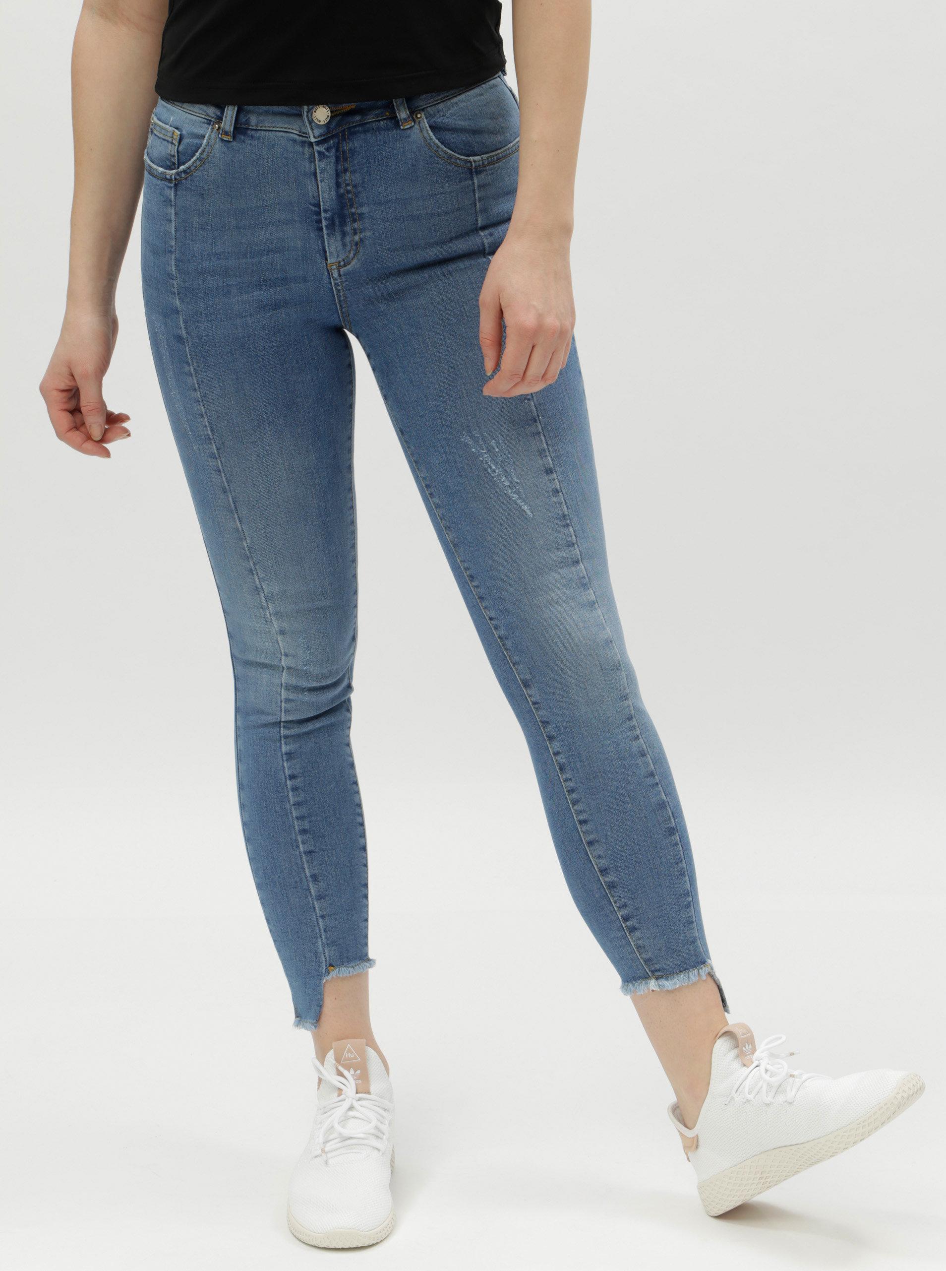 Modré super skinny džíny s vysokým pasem Miss Selfridge ... 7ca50b316b