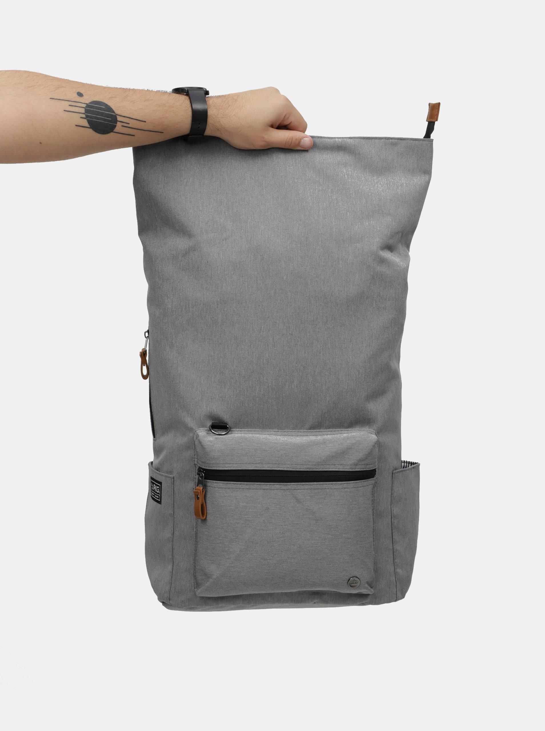 Šedý nepromokavý batoh s vnitřní taškou na notebook 2v1 PKG 22 l ... 97e47b7906