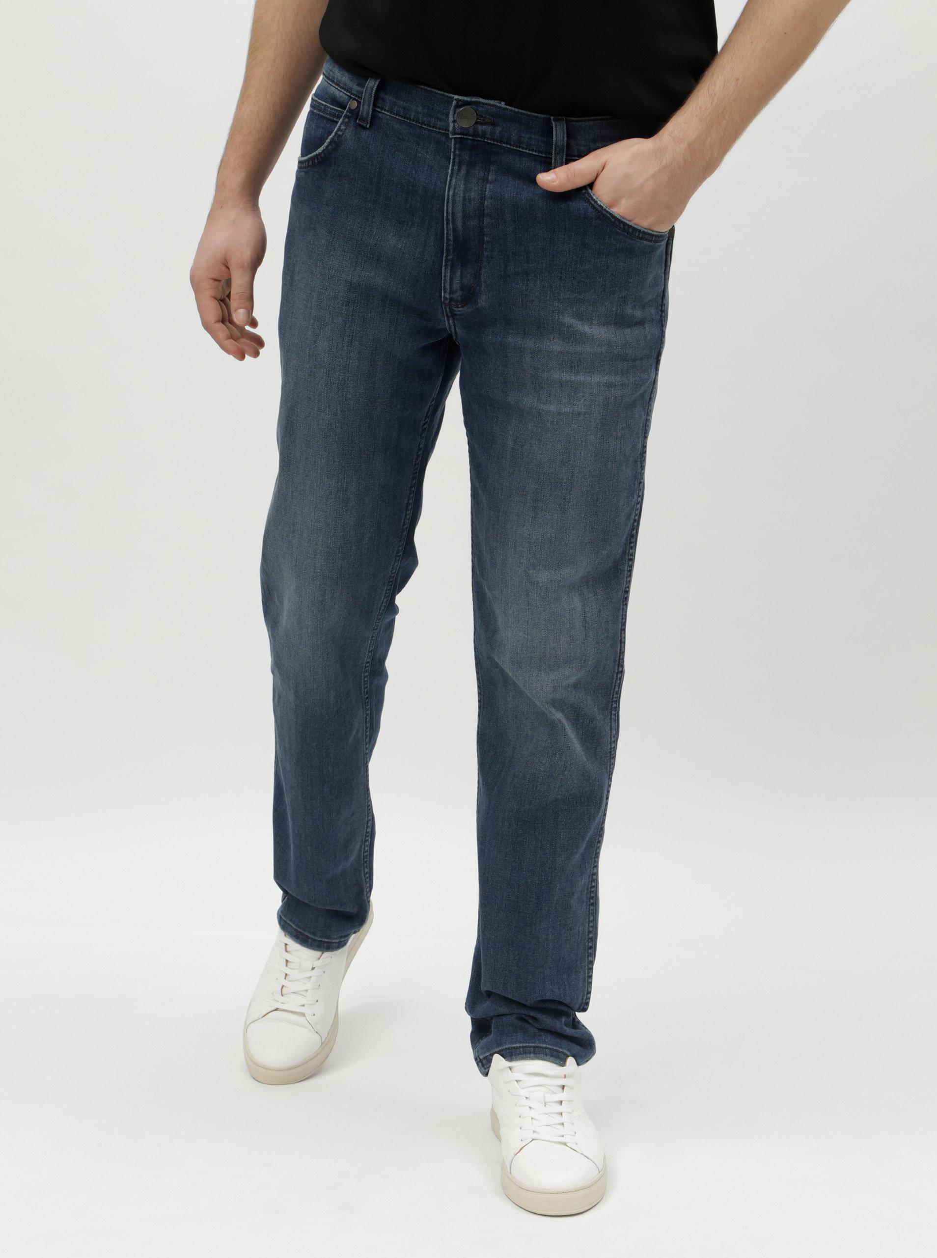 ae3e07806eb Tmavě modré pánské straight džíny Wrangler Greensboro ...