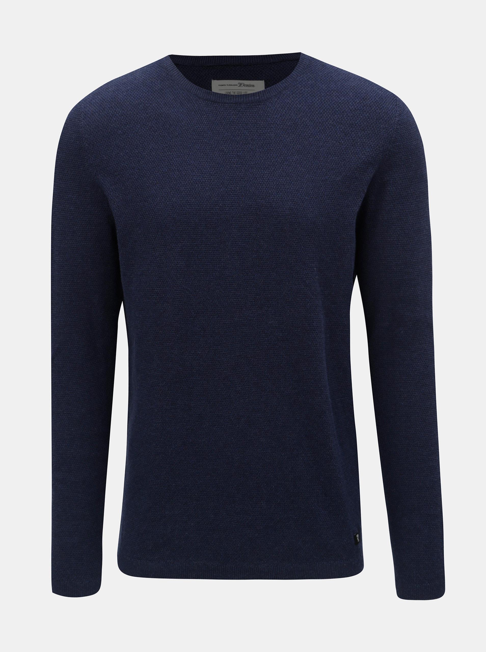 Tmavě modrý pánský lehký svetr Tom Tailor Denim ... 1cb8c2fe85
