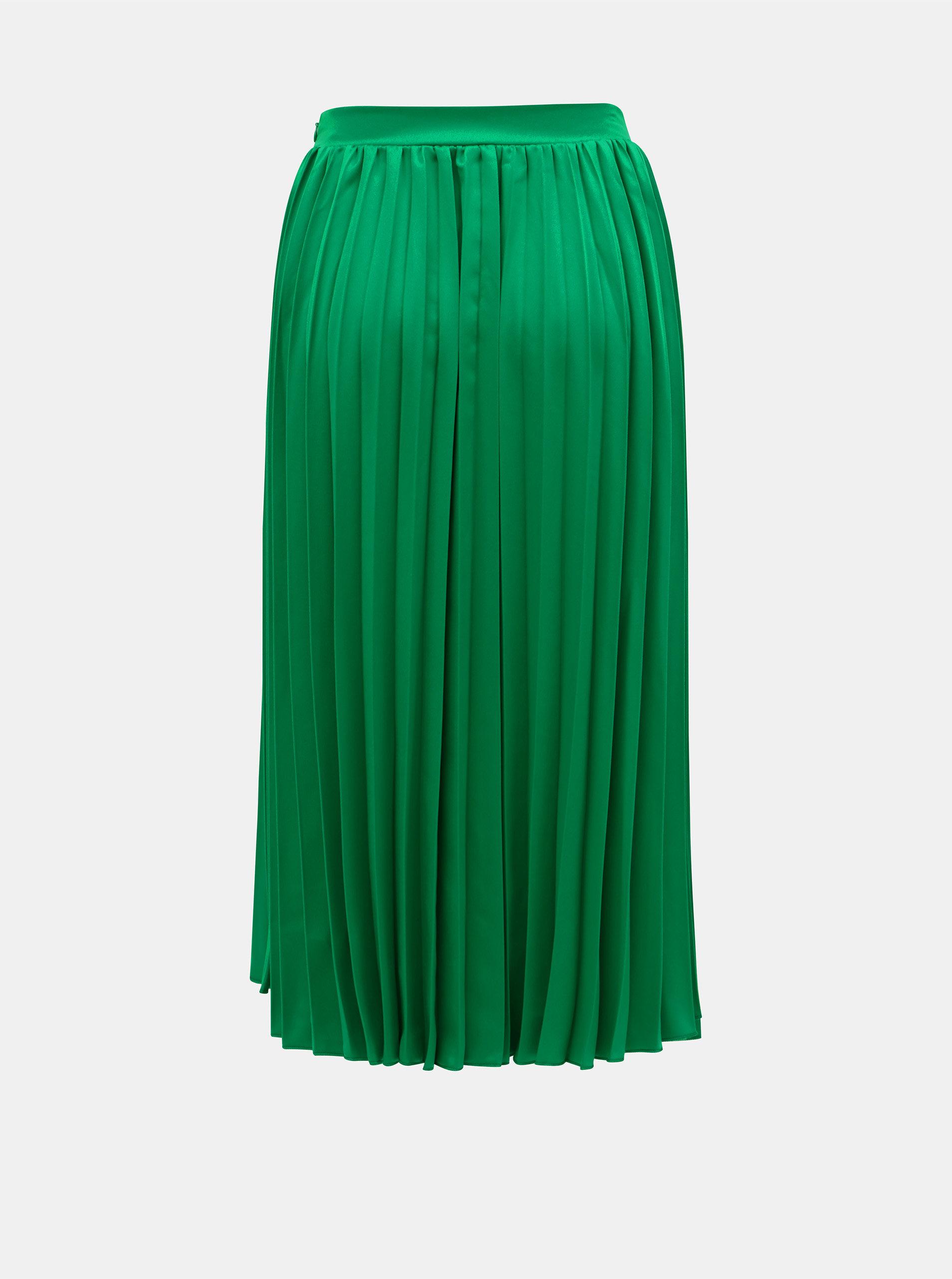277da2914801 Zelená plisovaná midi sukně ZOOT ...