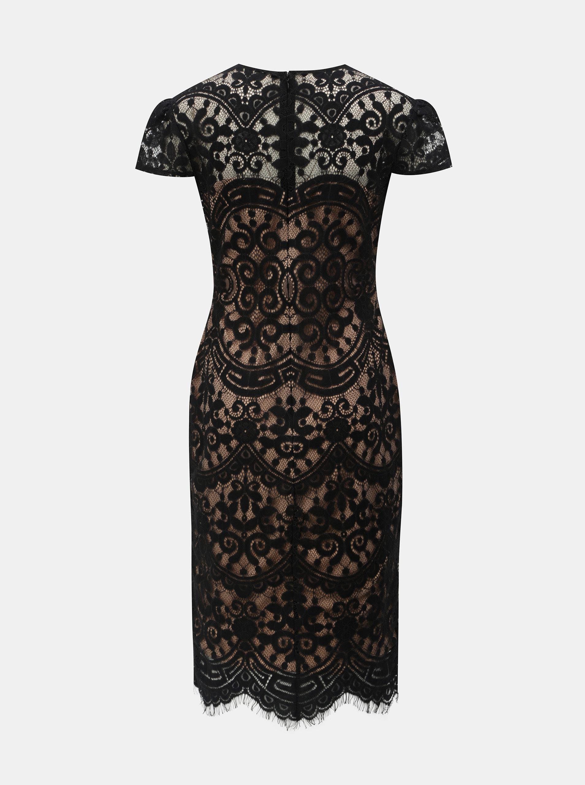 Béžovo-černé krajkové šaty ZOOT ... 1b4283803e