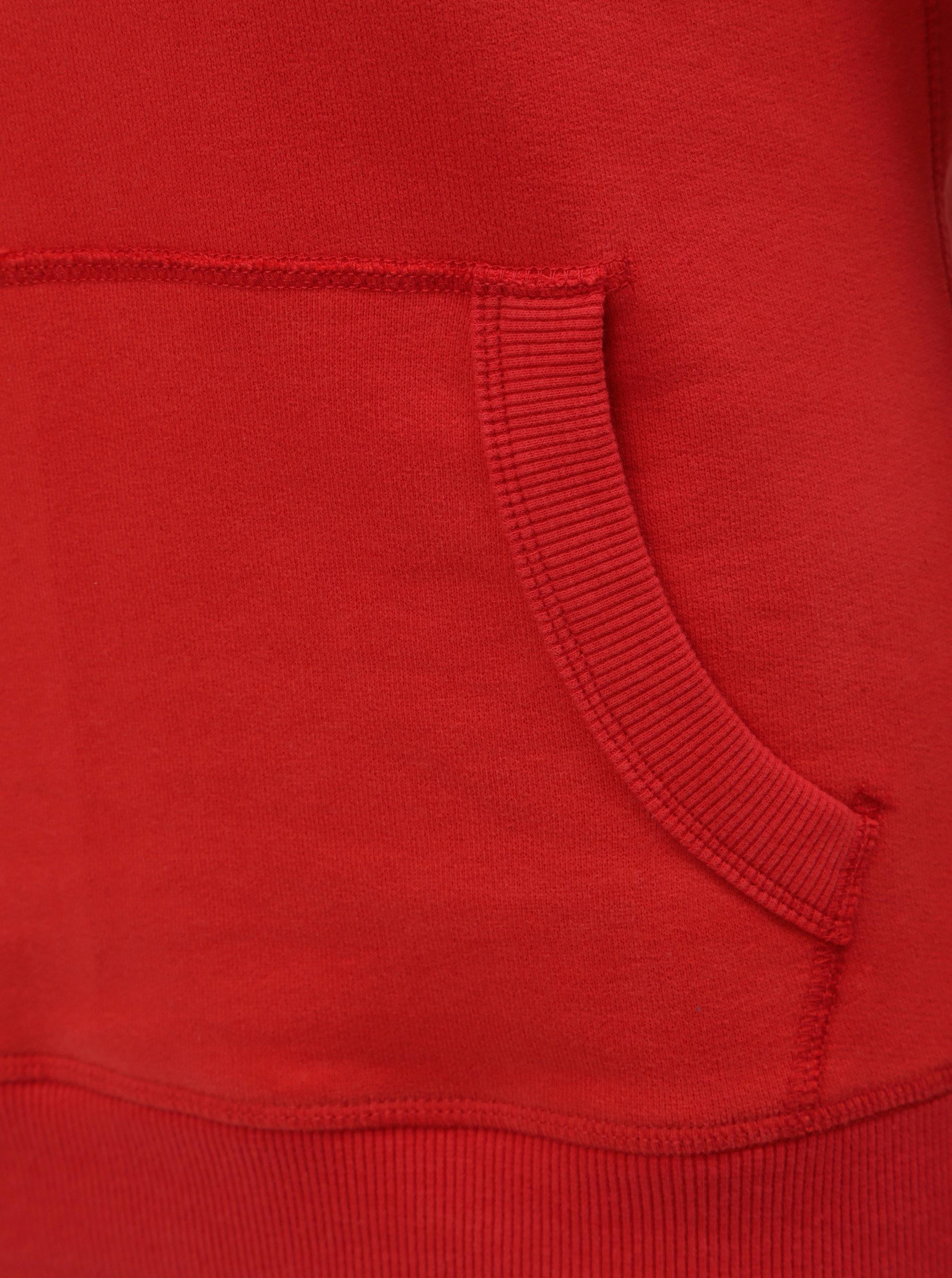 Modro-červená dámská mikina s kapucí Superdry ... 36fcb3a3c9a