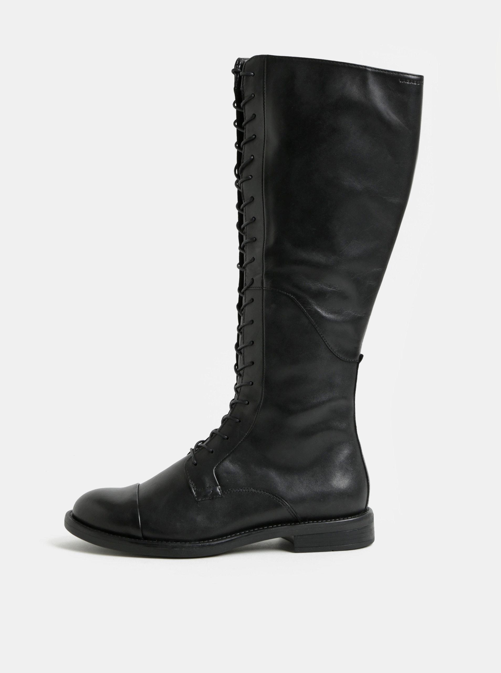 f8f7c4b81 Čierne kožené čižmy so šnurovaním Vagabond Amina | ZOOT.sk
