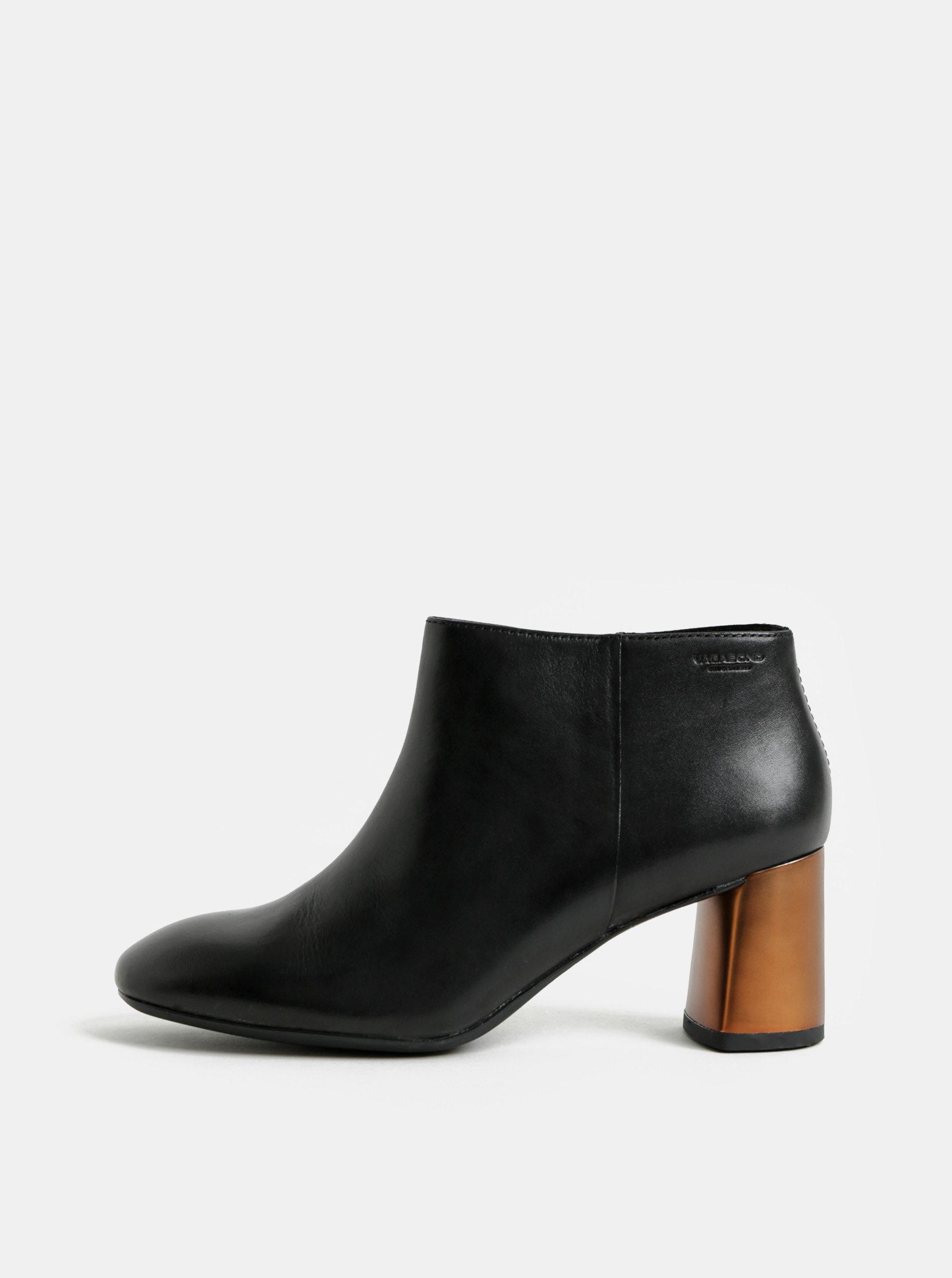 dc89e5c0acbf Čierne dámske kožené členkové topánky Vagabond Jeena ...