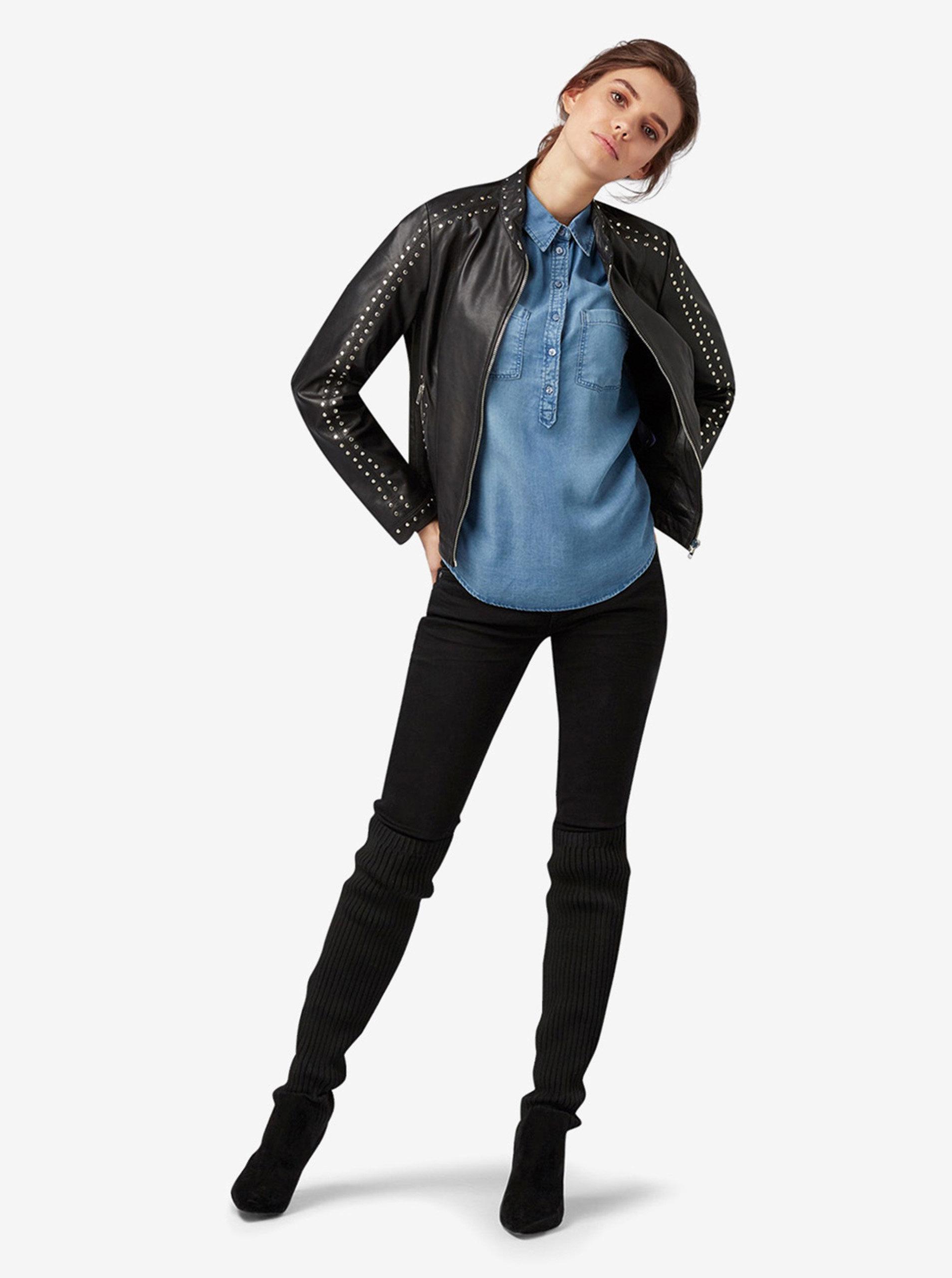 dd757c608505 Modrá dámská džínová košile Tom Tailor ...