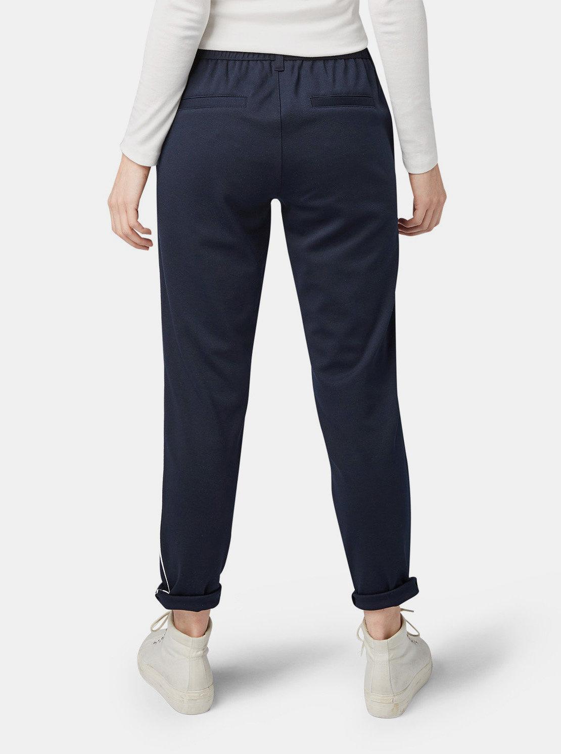 ba4c035a1460 Tmavomodré dámske nohavice Tom Tailor Denim ...