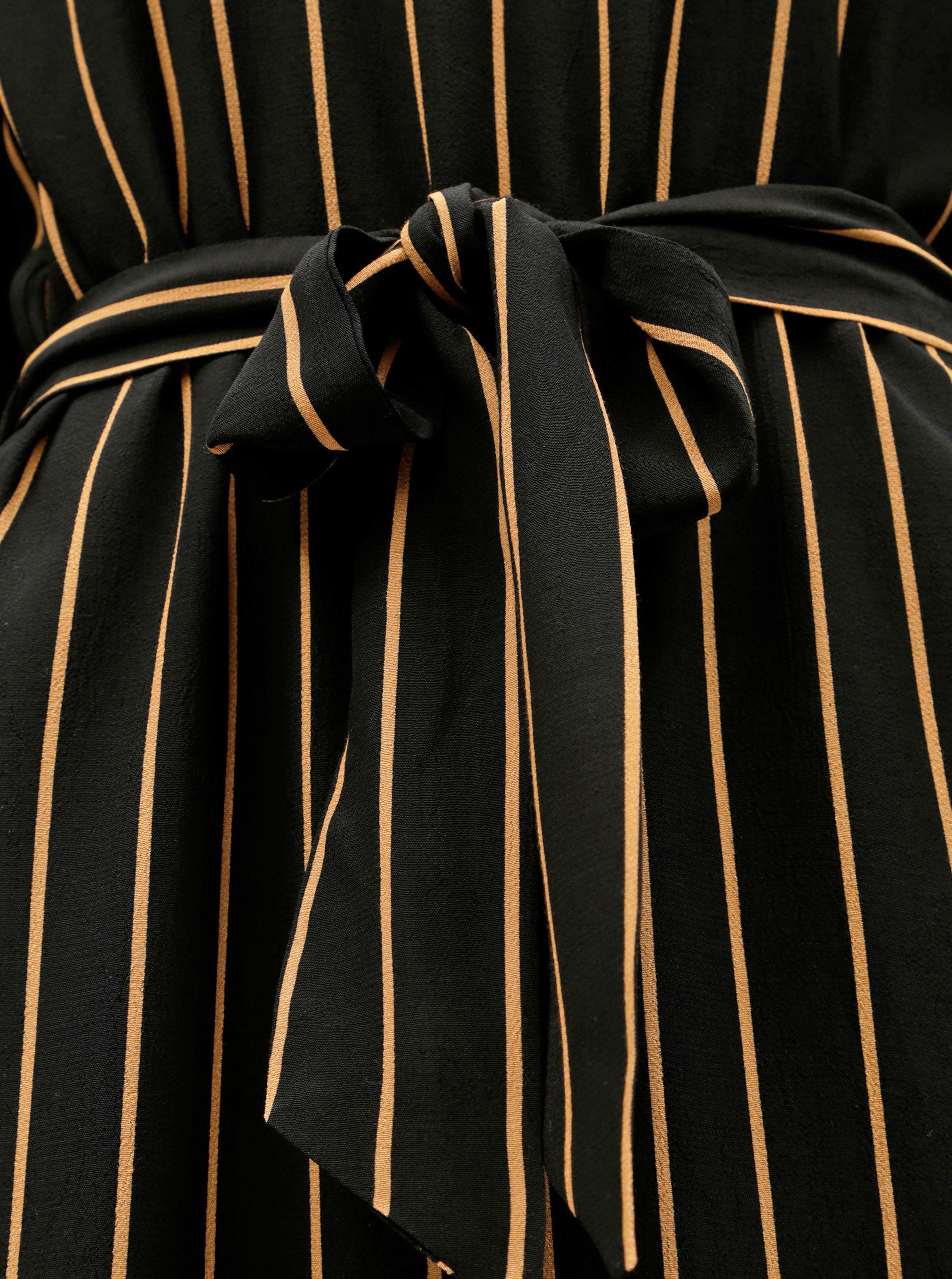 Černé pruhované midišaty Selected Femme Alessa ... 521fdfe9fe