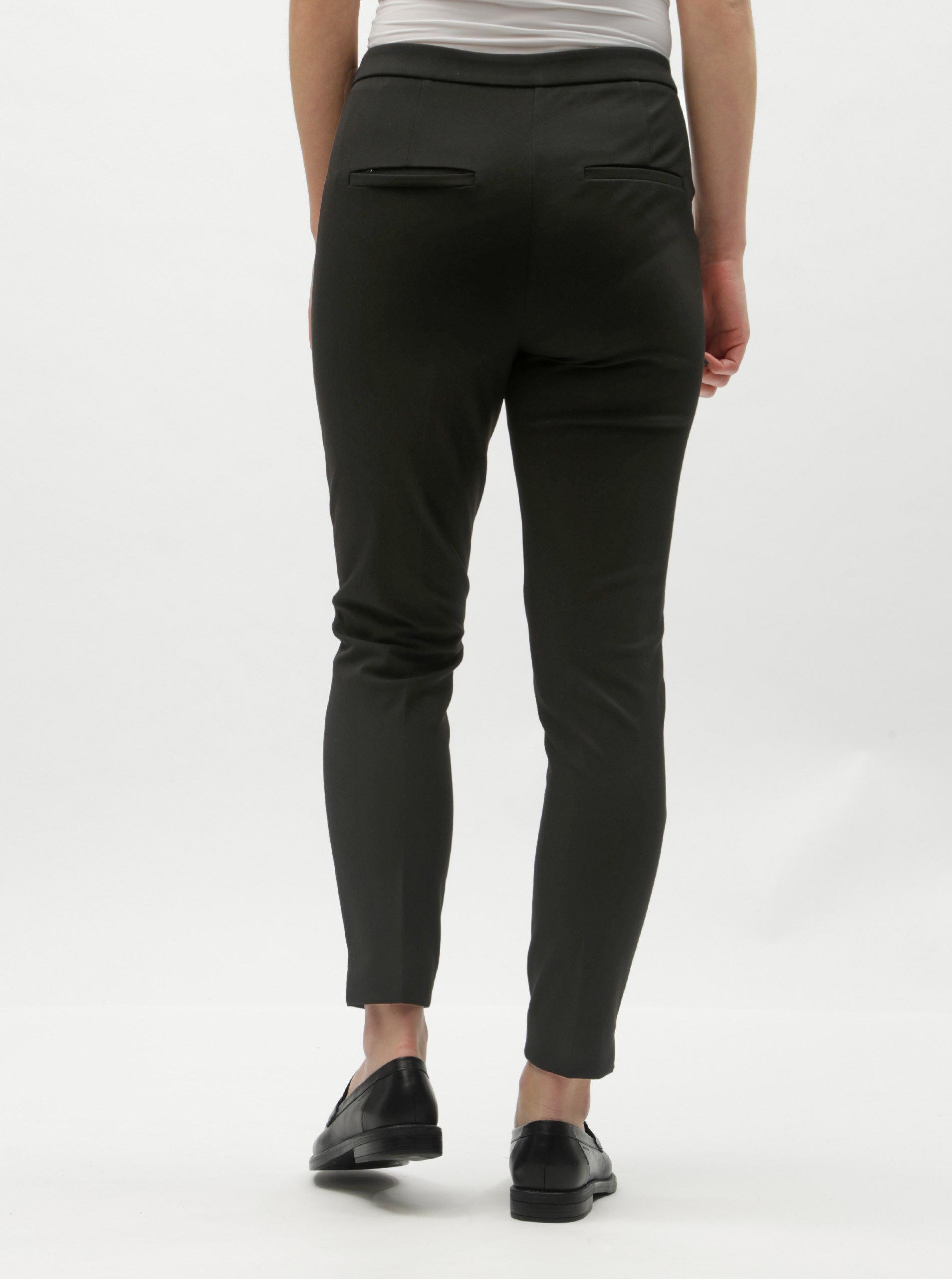 6eb6e5981c5 Černé zkrácené kalhoty s puky a vysokým pasem Selected Femme Ilue ...