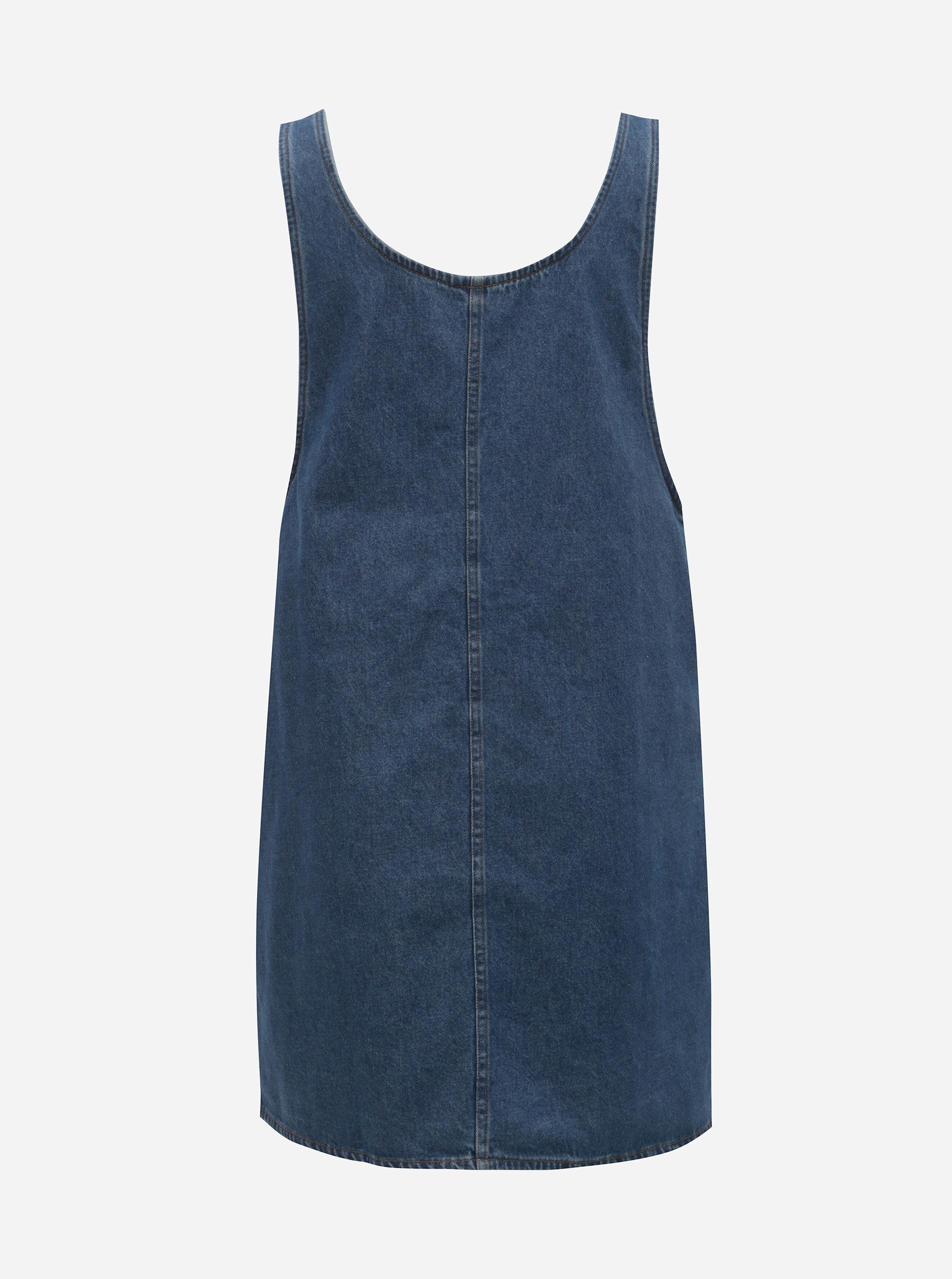 cac671f0a6e Modré džínové šaty s kapsami Noisy May Wilda ...