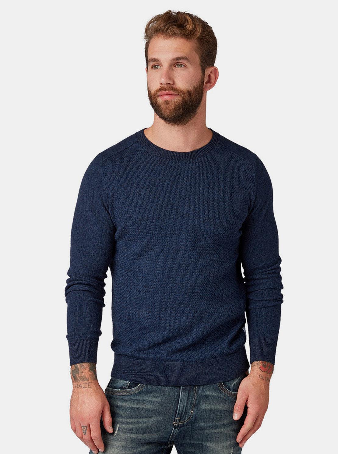 Tmavě modrý pánský svetr Tom Tailor ... 99cefcd6bd