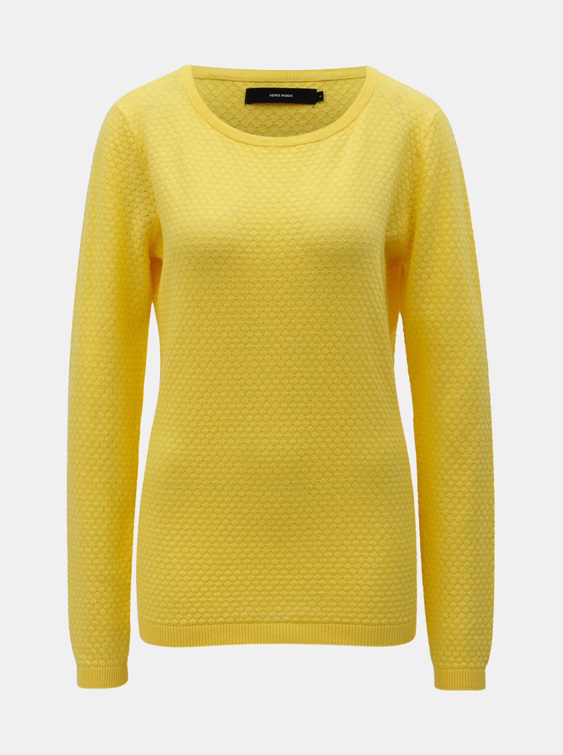 Žlutý svetr VERO MODA Care ... fad401c1e5