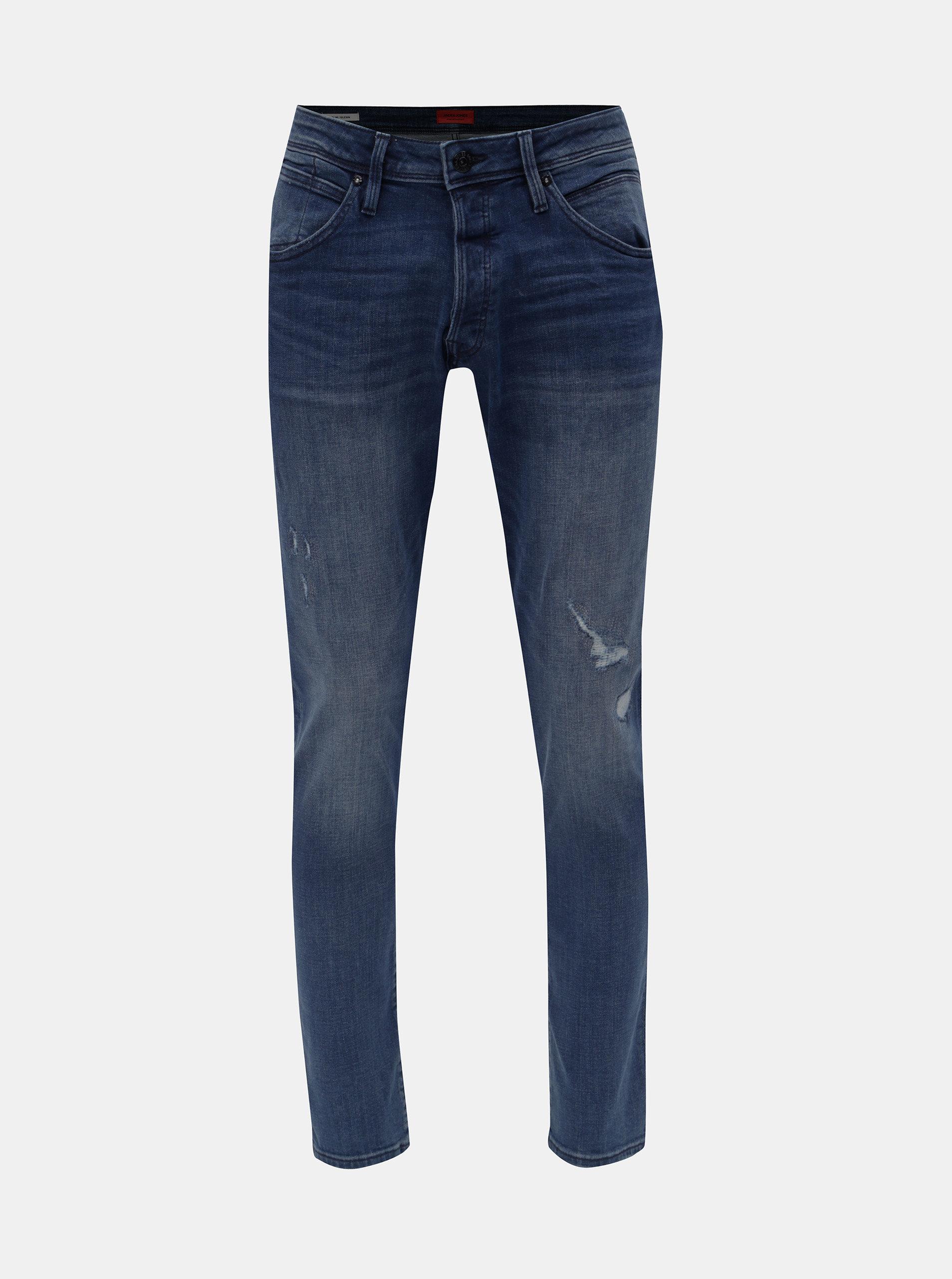 Tmavě modré slim džíny Jack   Jones Glenn ... b687abd2ba
