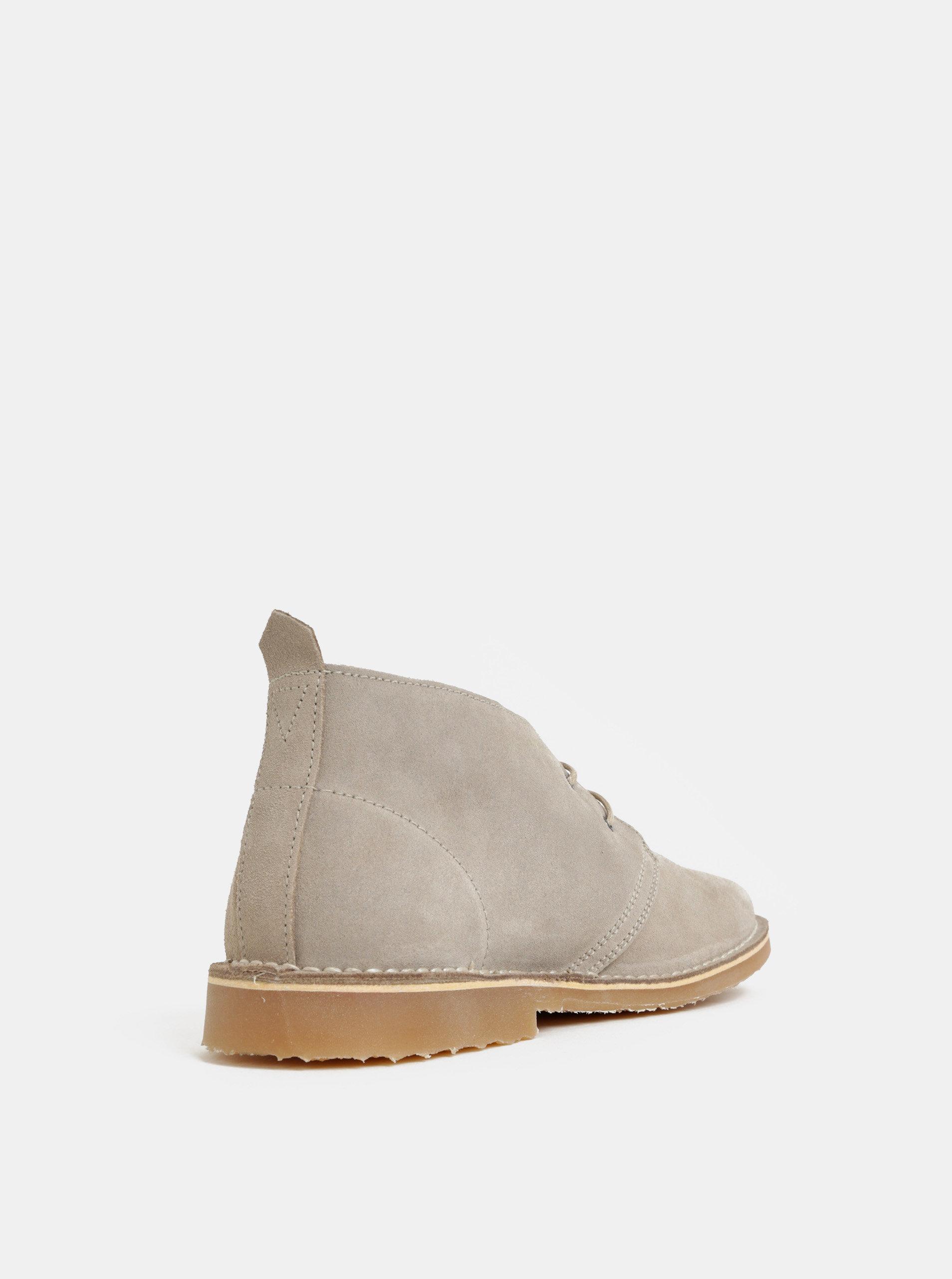 694219d0d2c6 Béžové pánské semišové kotníkové boty Jack   Jones Gobi ...