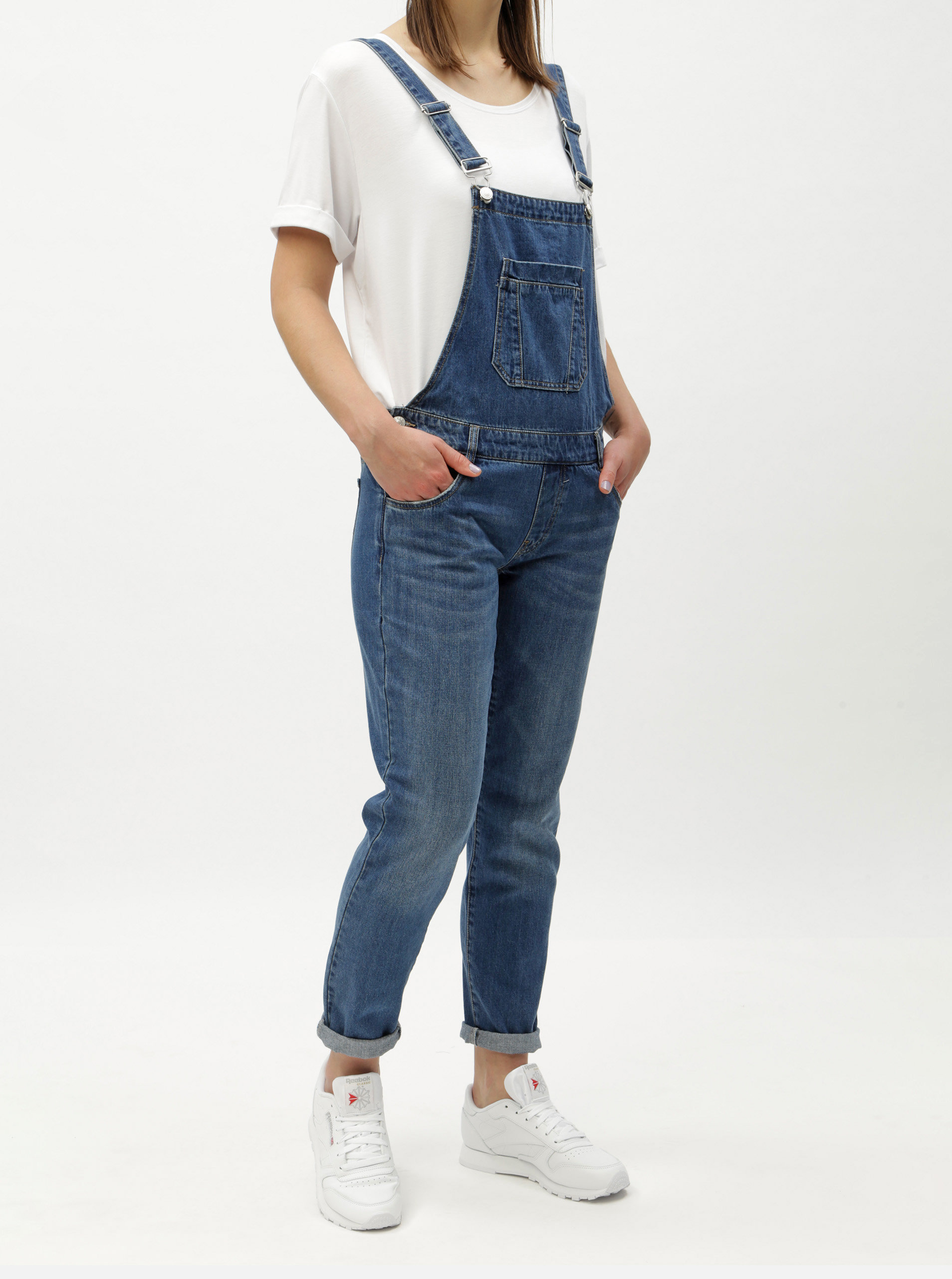 b3936a1fd72 Modré džínové lacláče ONLY Kim ...