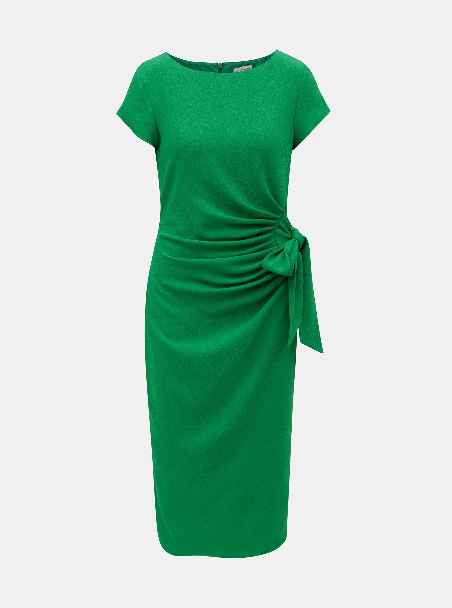 dbc72a00b54e Zelené puzdrové šaty Lily   Franc by Dorothy Perkins ...