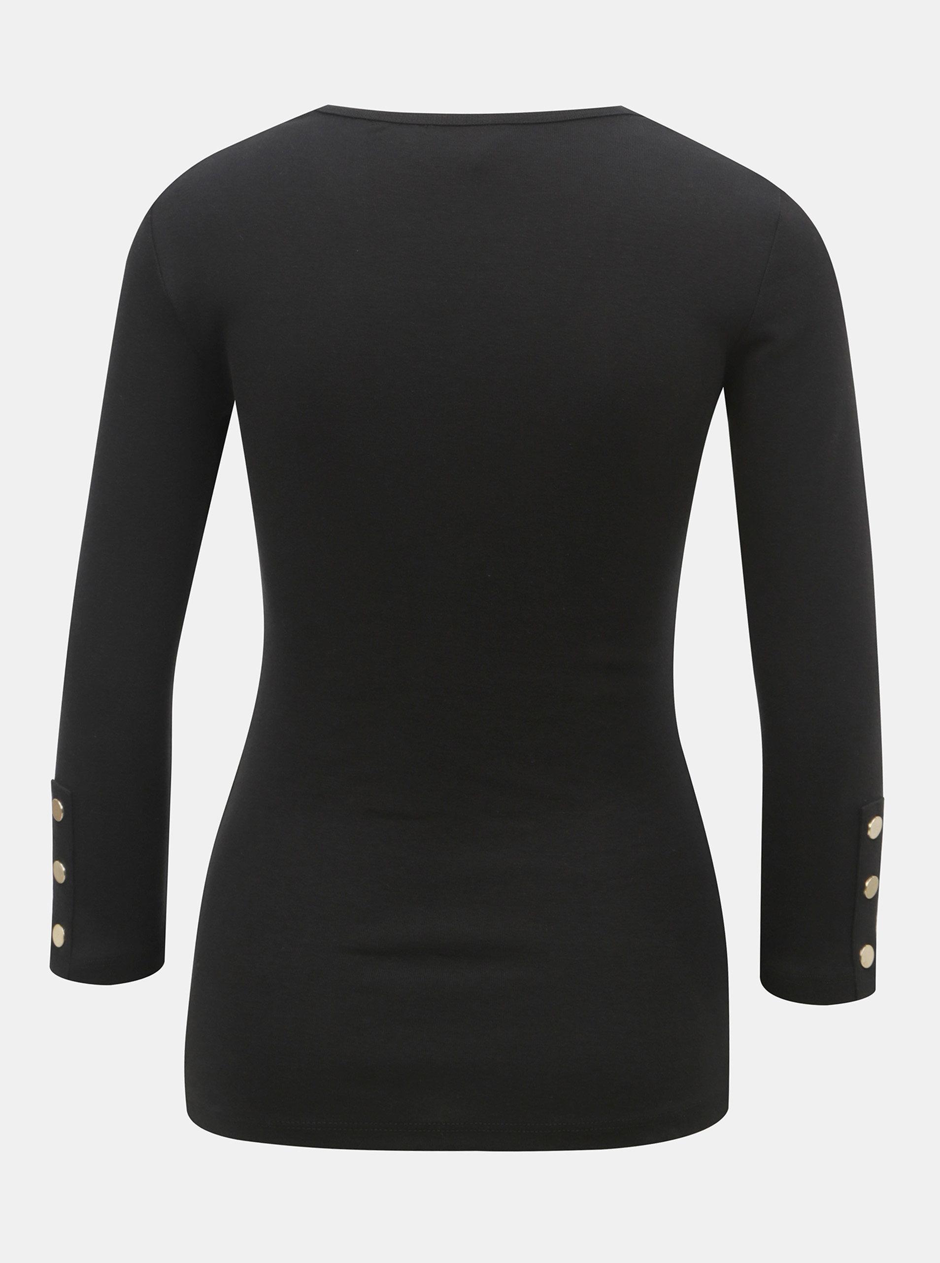 7032fc4803f8 Čierne tričko s 3 4 rukávom Dorothy Perkins ...