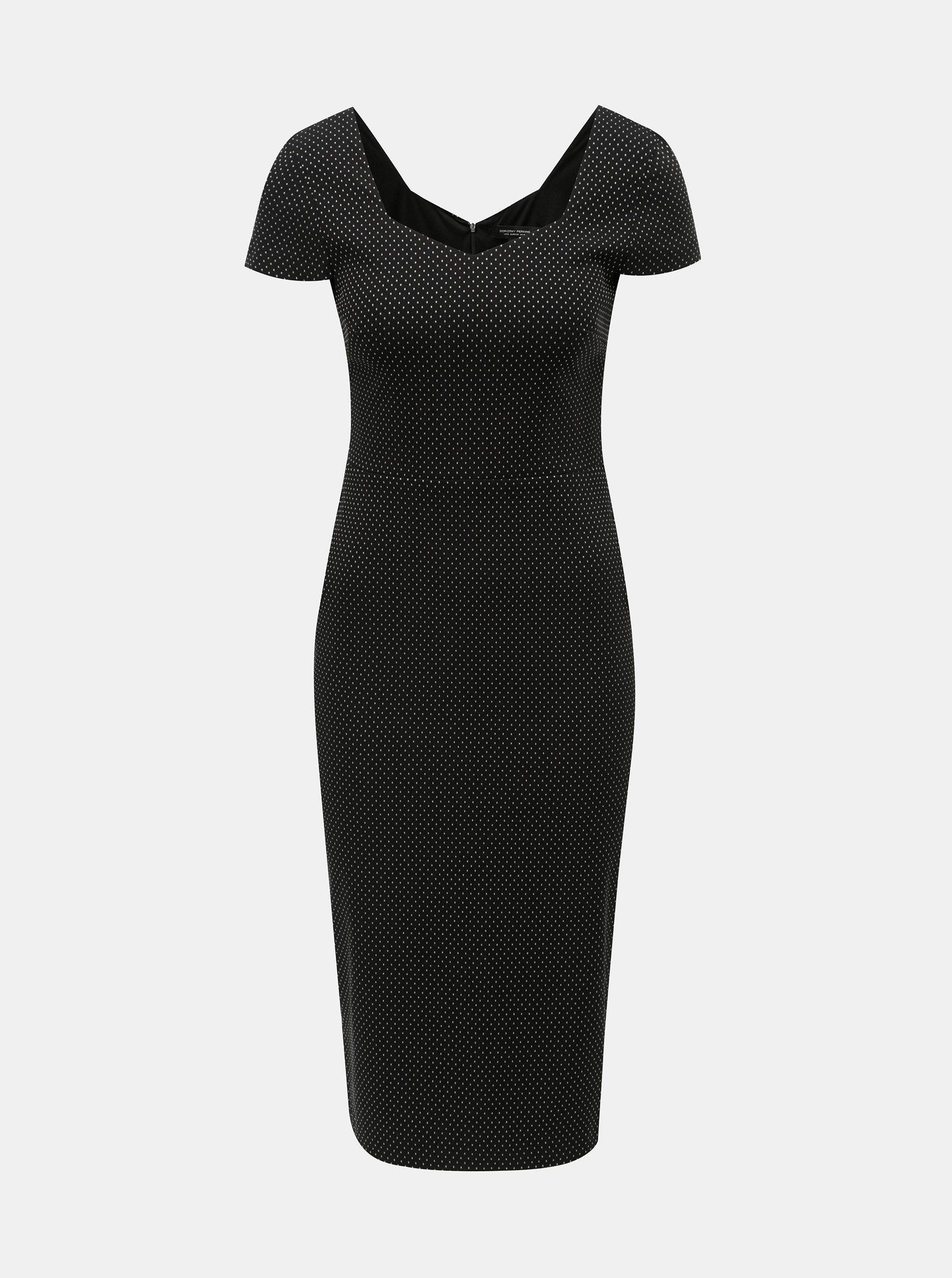 Čierne bodkované puzdrové šaty Dorothy Perkins ... aff1a5dab46
