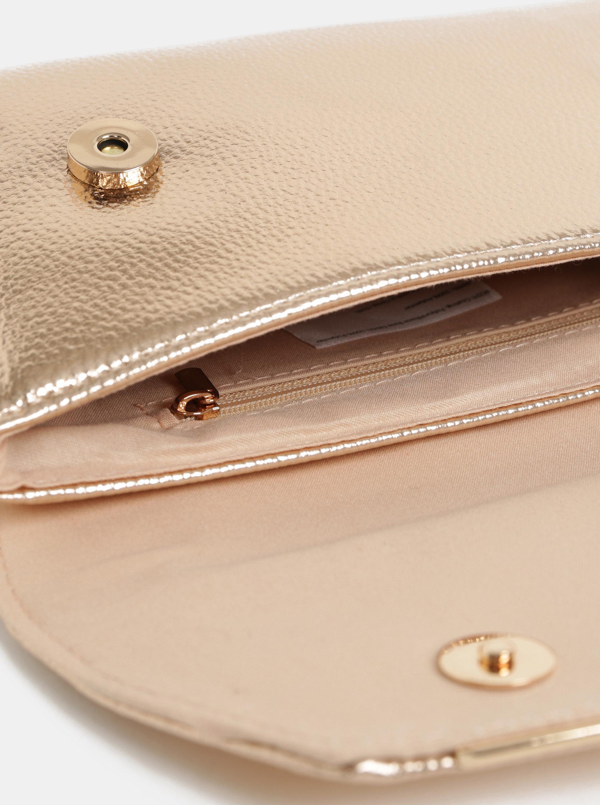 b7b31d83fa Listová kabelka v ružovozlatej farbe Dorothy Perkins
