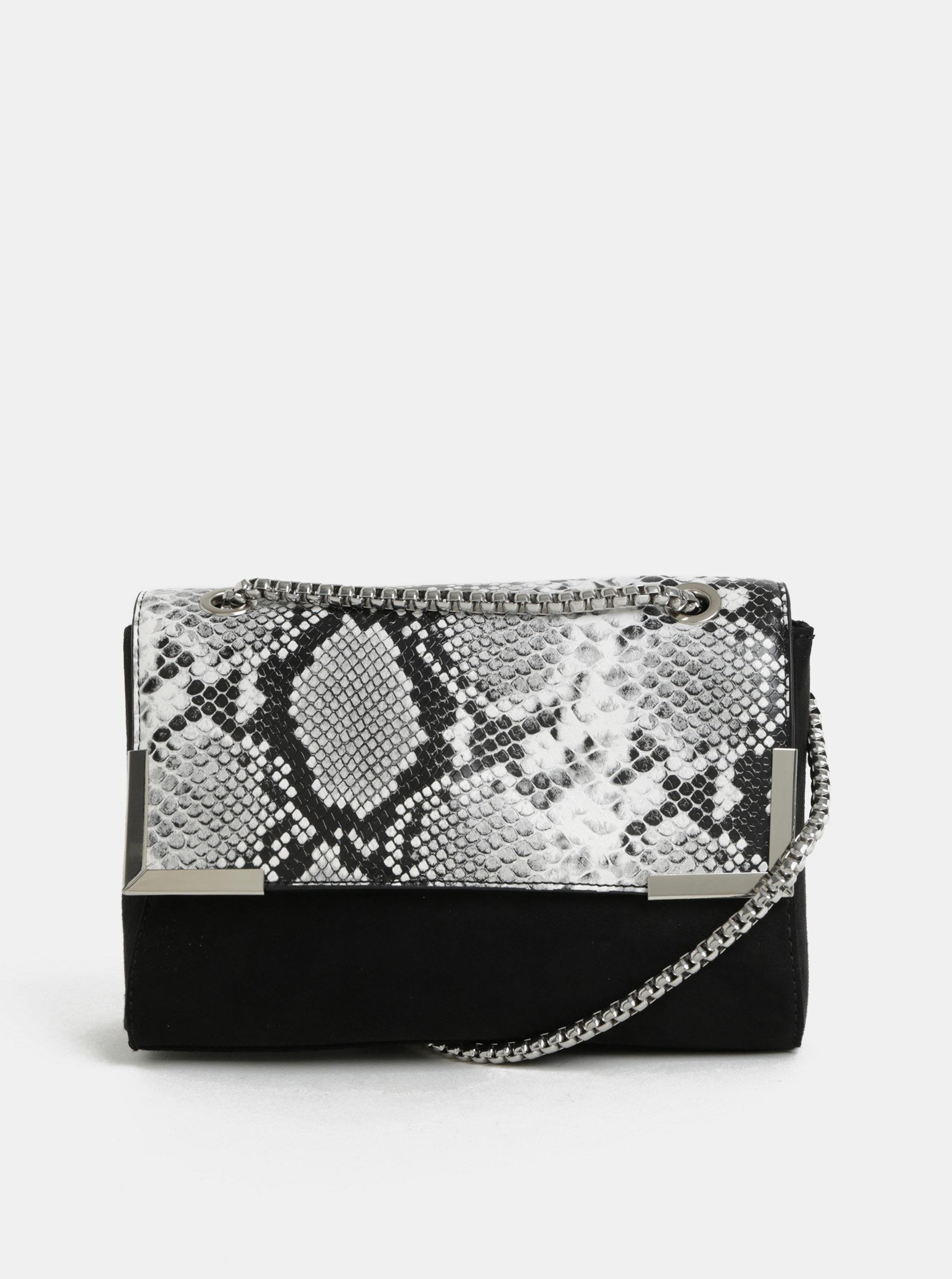 b3ad817fa8 Černá crossbody kabelka s hadím vzorem Dorothy Perkins ...