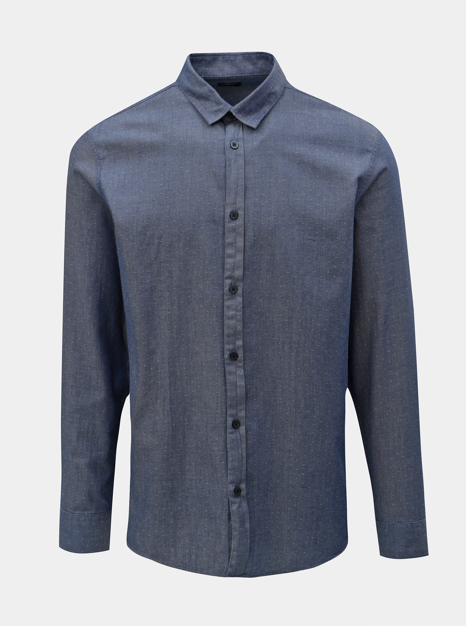 Modrá puntíkovaná slim fit košile Selected Homme Kris ... deb45b033a