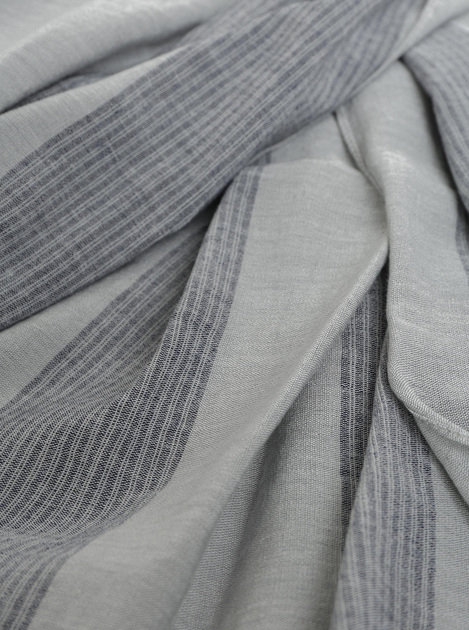 Šedý pruhovaný šátek Selected Homme Brody ... 5c059023fa