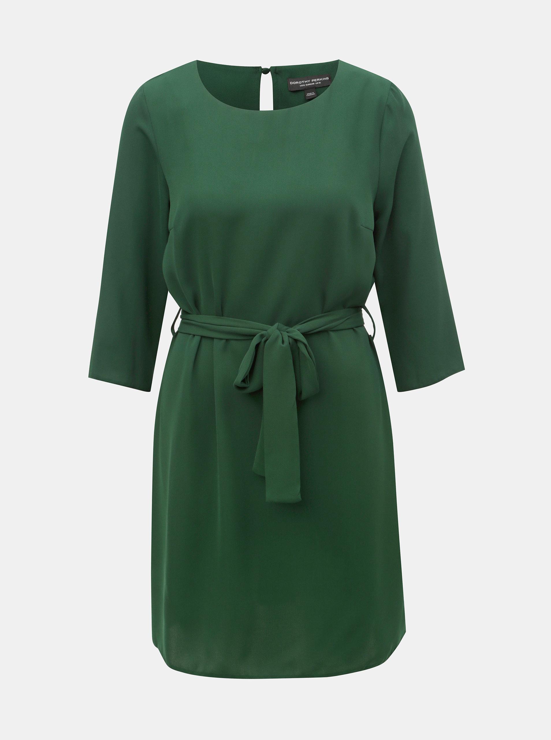 2befeed925b6 Zelené šaty s páskem Dorothy Perkins ...