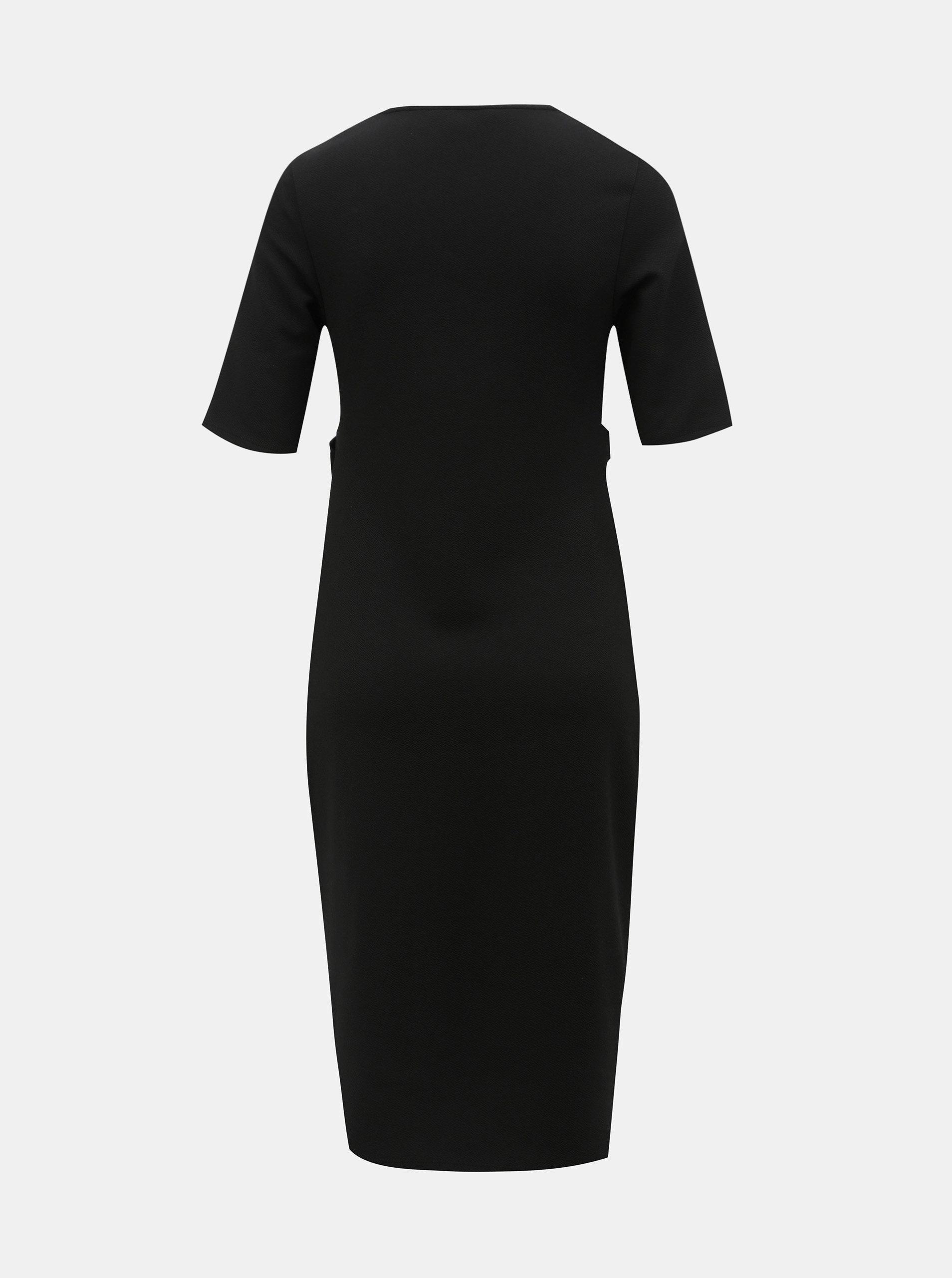 4b69f12566ca Čierne tehotenské puzdrové šaty Dorothy Perkins Maternity ...